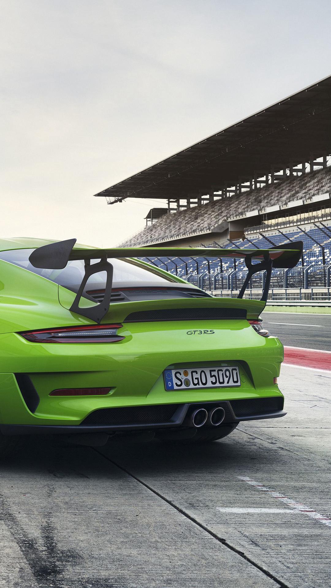 1080x1920 Porsche 911 Gt3 Rs 2018 Rear Iphone 7 6s 6 Plus