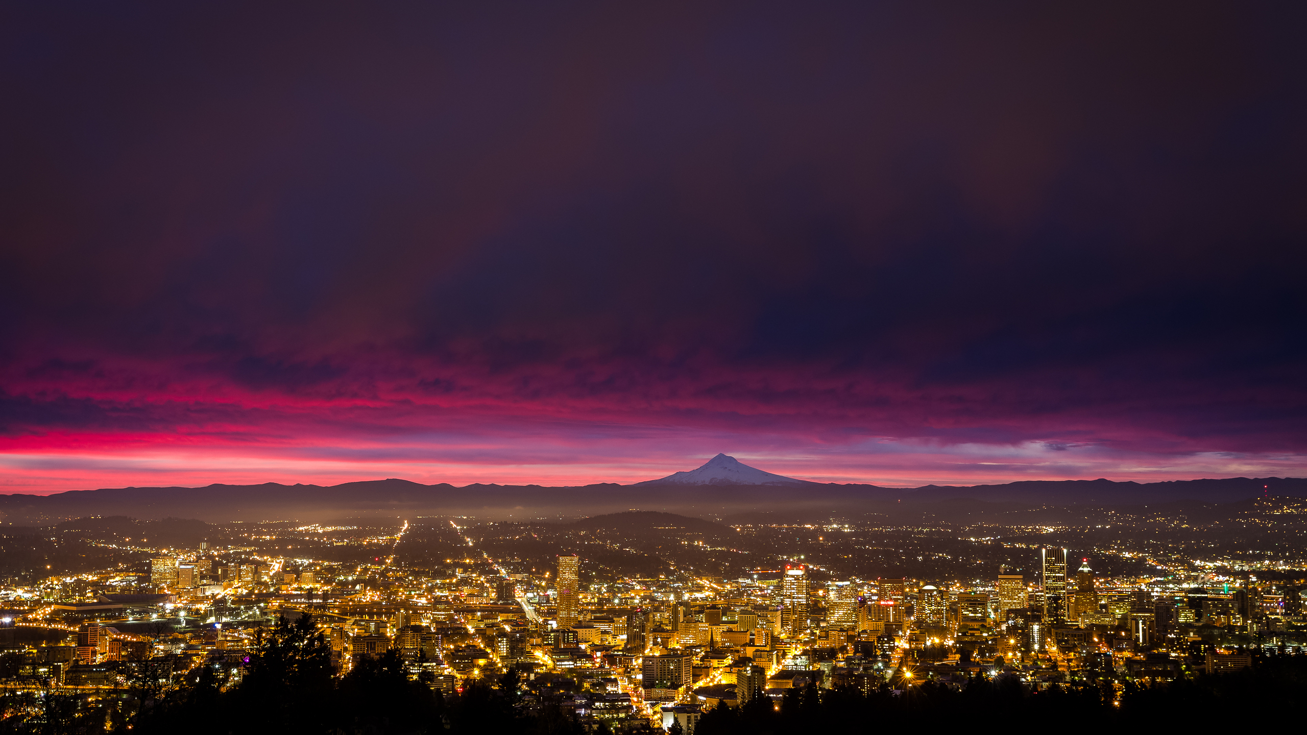 2560x1440 Portland Sunrise 1440P Resolution HD 4k Wallpapers Images