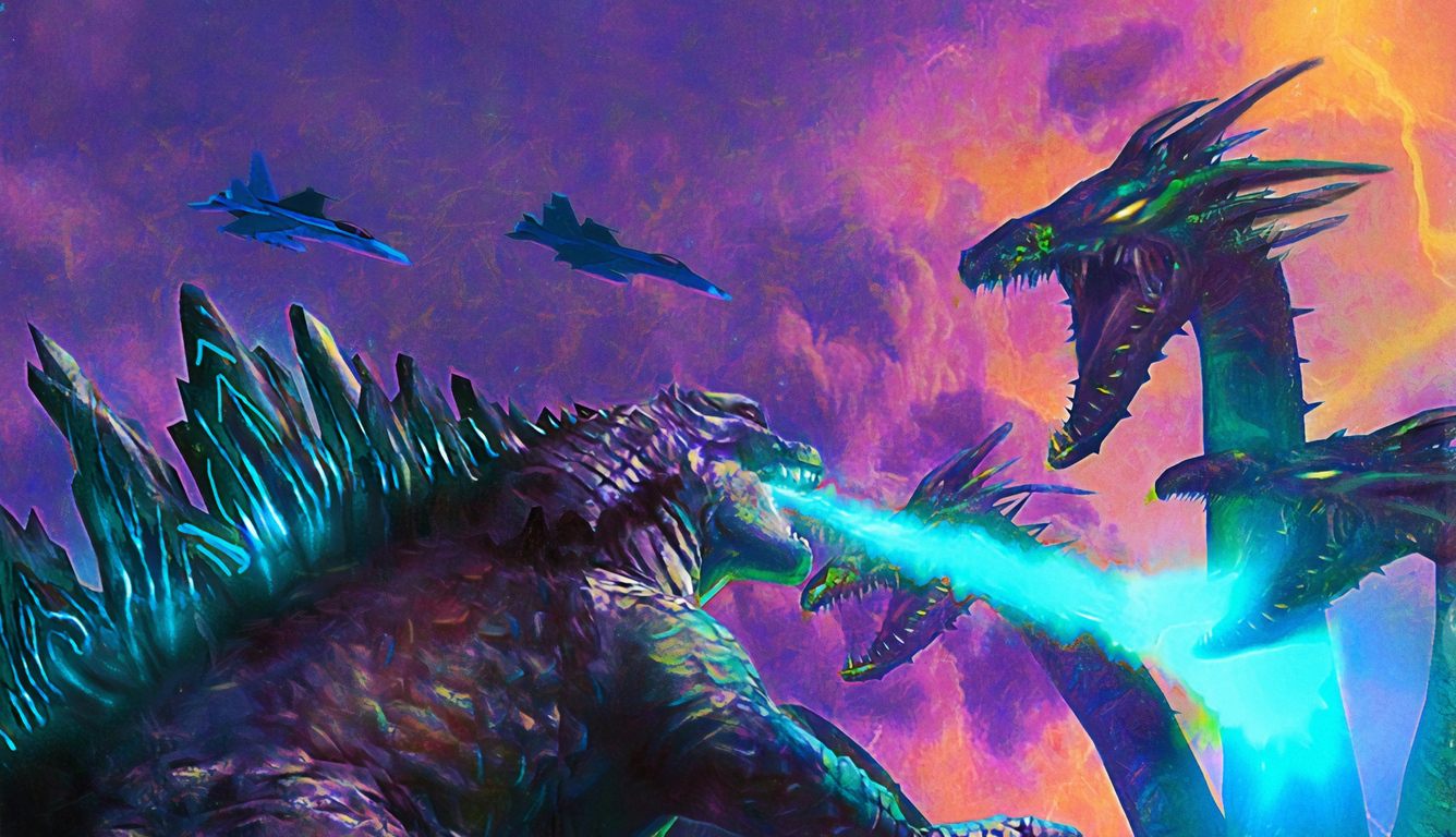 1336x768 Poster Art Godzilla King Of The Monsters Laptop Hd Hd 4k