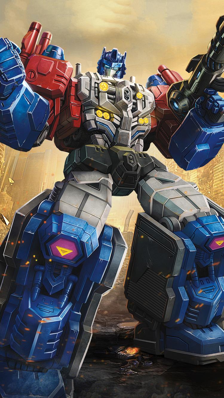 750x1334 Powermaster Optimus In Transformers Titans Return ...