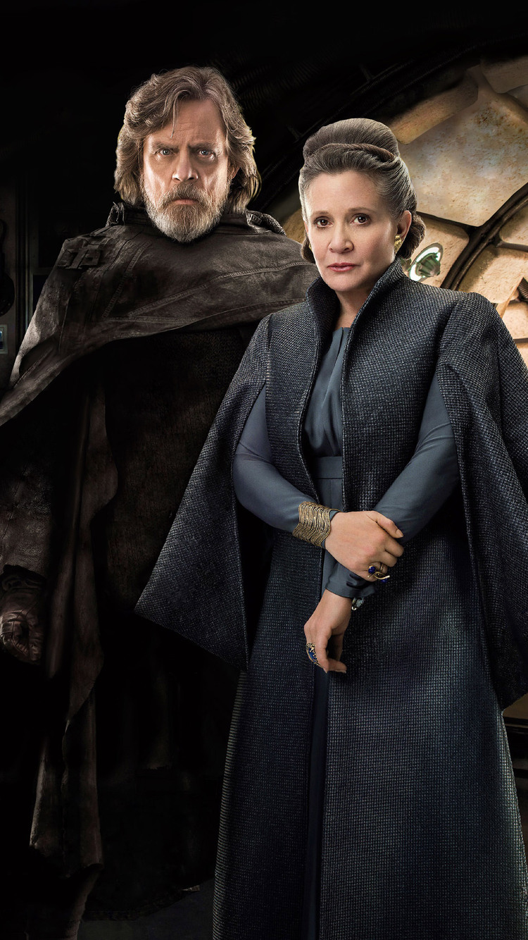 750x1334 Princess Leia And Luke Skywalker In Star Wars The