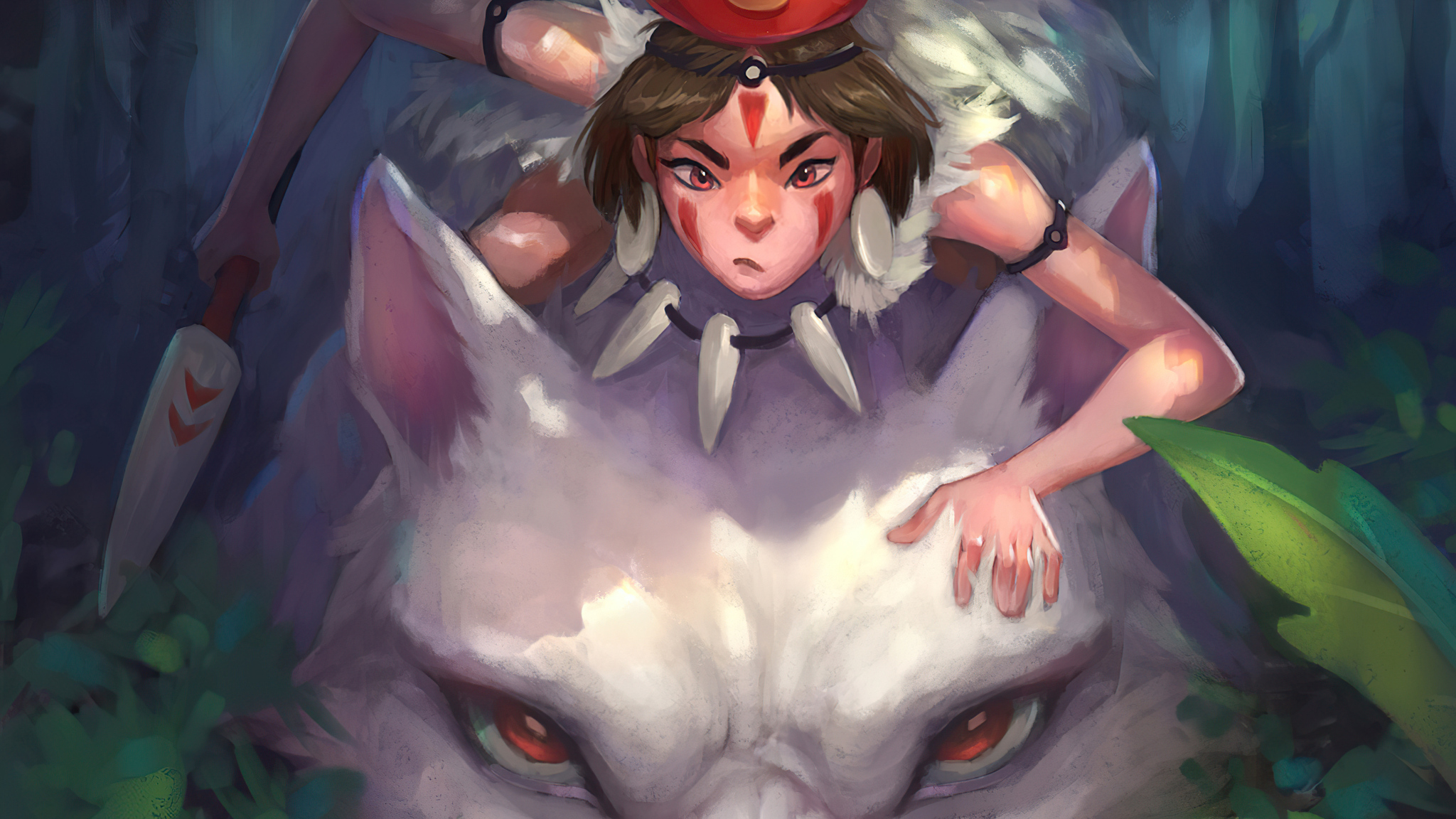2048x1152 Princess Mononoke Fanart 4k 2048x1152 Resolution Hd 4k Wallpapers Images Backgrounds Photos And Pictures