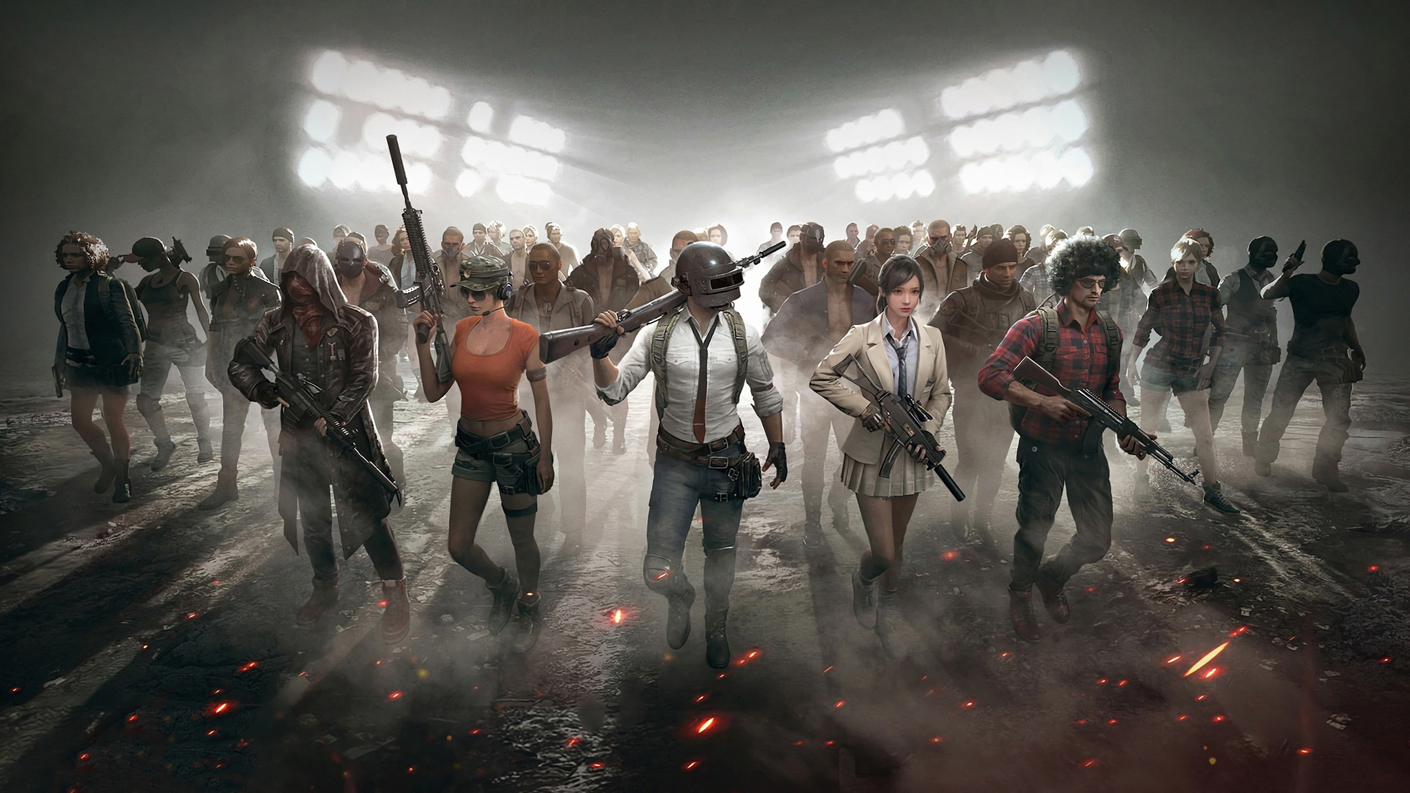 Playerunknowns Battlegrounds Game Hd Games 4k Wallpapers: 2048x1152 Pubg Characters 4k 2048x1152 Resolution HD 4k
