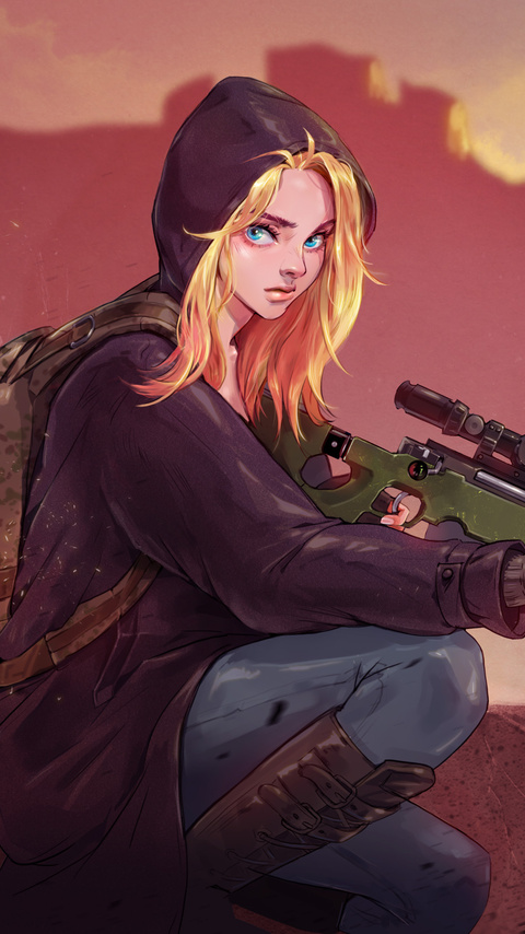 480x854 Pubg Game Girl Fanart Android One Hd 4k Wallpapers Images