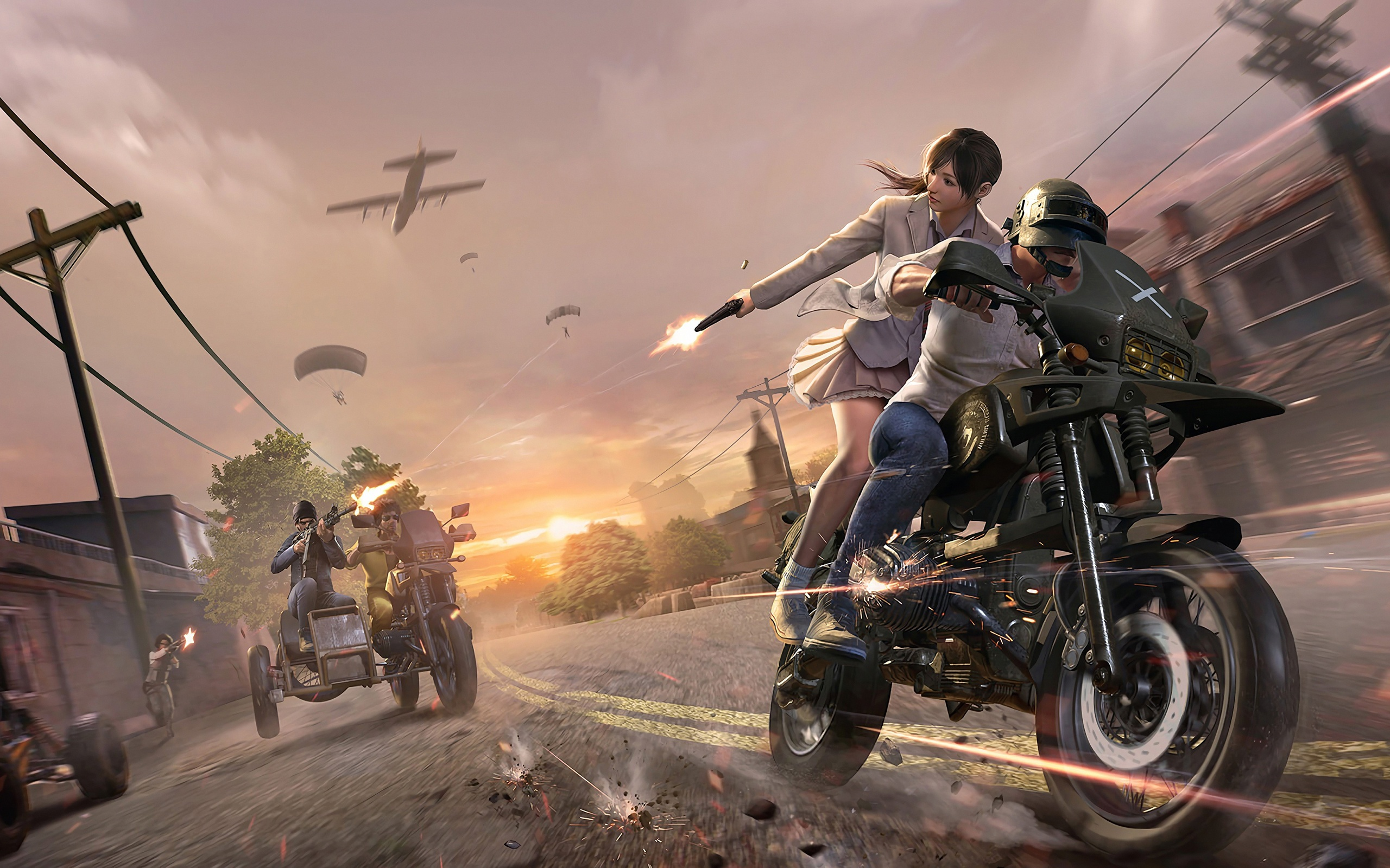 2048x1152 Pubg Bike Rider 4k 2048x1152 Resolution Hd 4k: 2560x1600 PUBG Helmet Guy With Girl 4k 2560x1600
