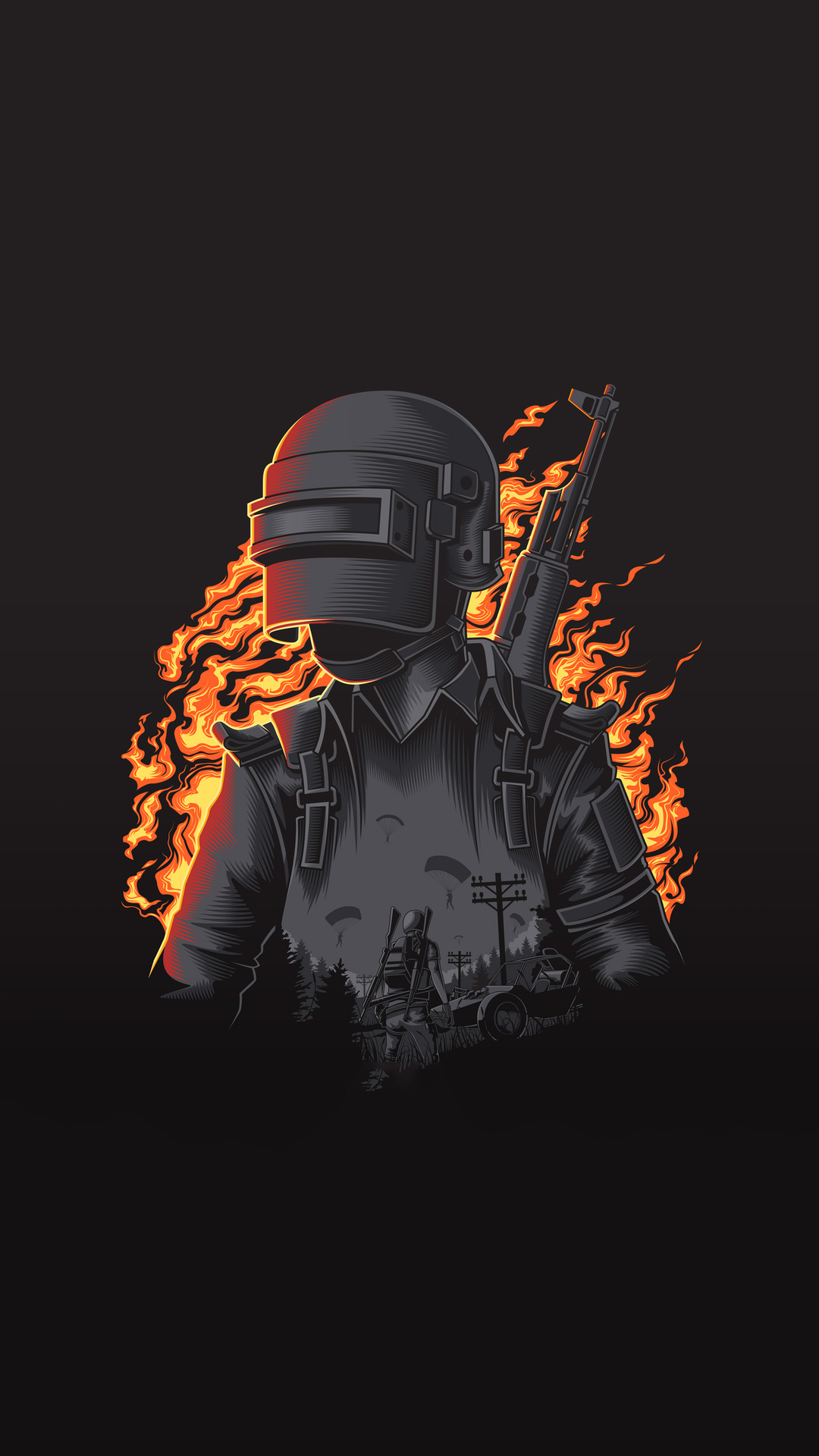 1080x1920 Pubg Illustration 4k Iphone 7,6s,6 Plus, Pixel xl