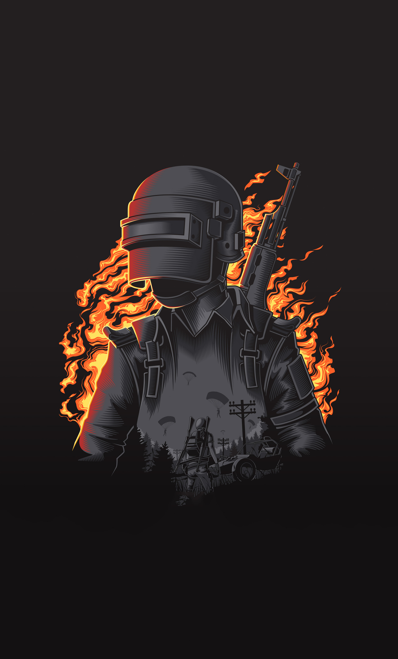 1280x2120 Pubg Illustration 4k Iphone 6 Hd 4k Wallpapers