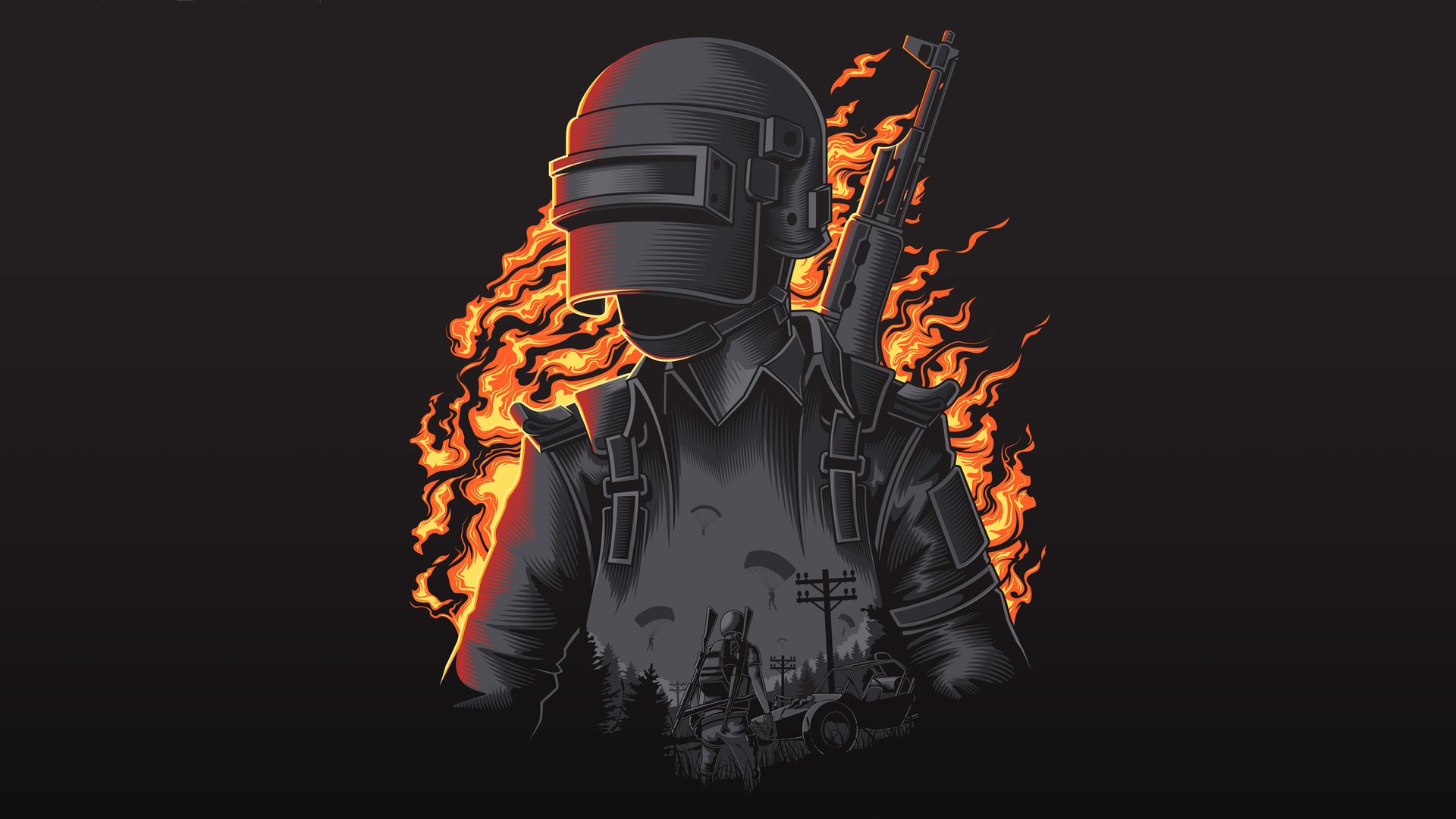 1920x1080 Pubg Artwork 4k Laptop Full Hd 1080p Hd 4k: 1920x1080 Pubg Illustration 4k Laptop Full HD 1080P HD 4k