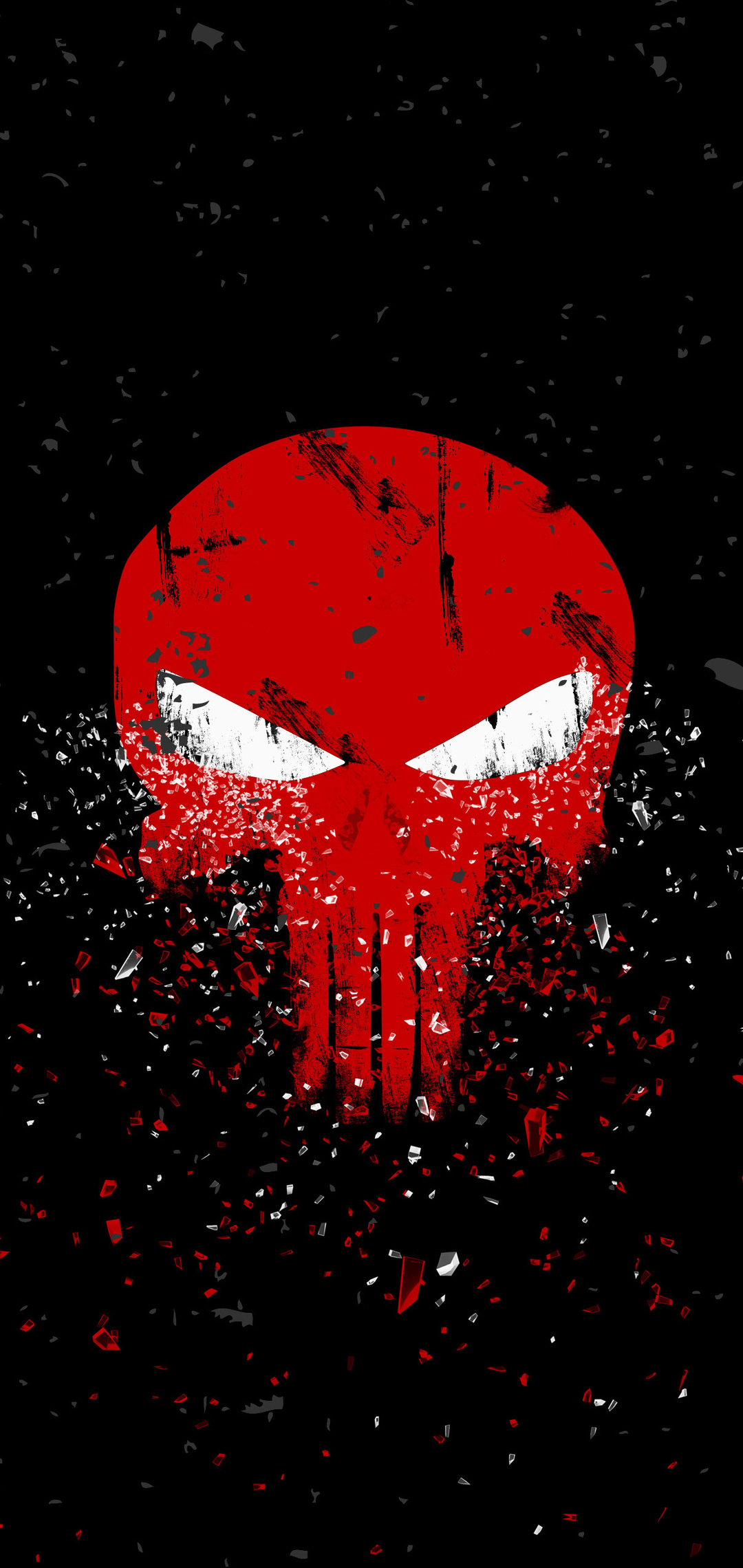 1080x2280 Punisher Logo 4k One Plus 6,Huawei p20,Honor view