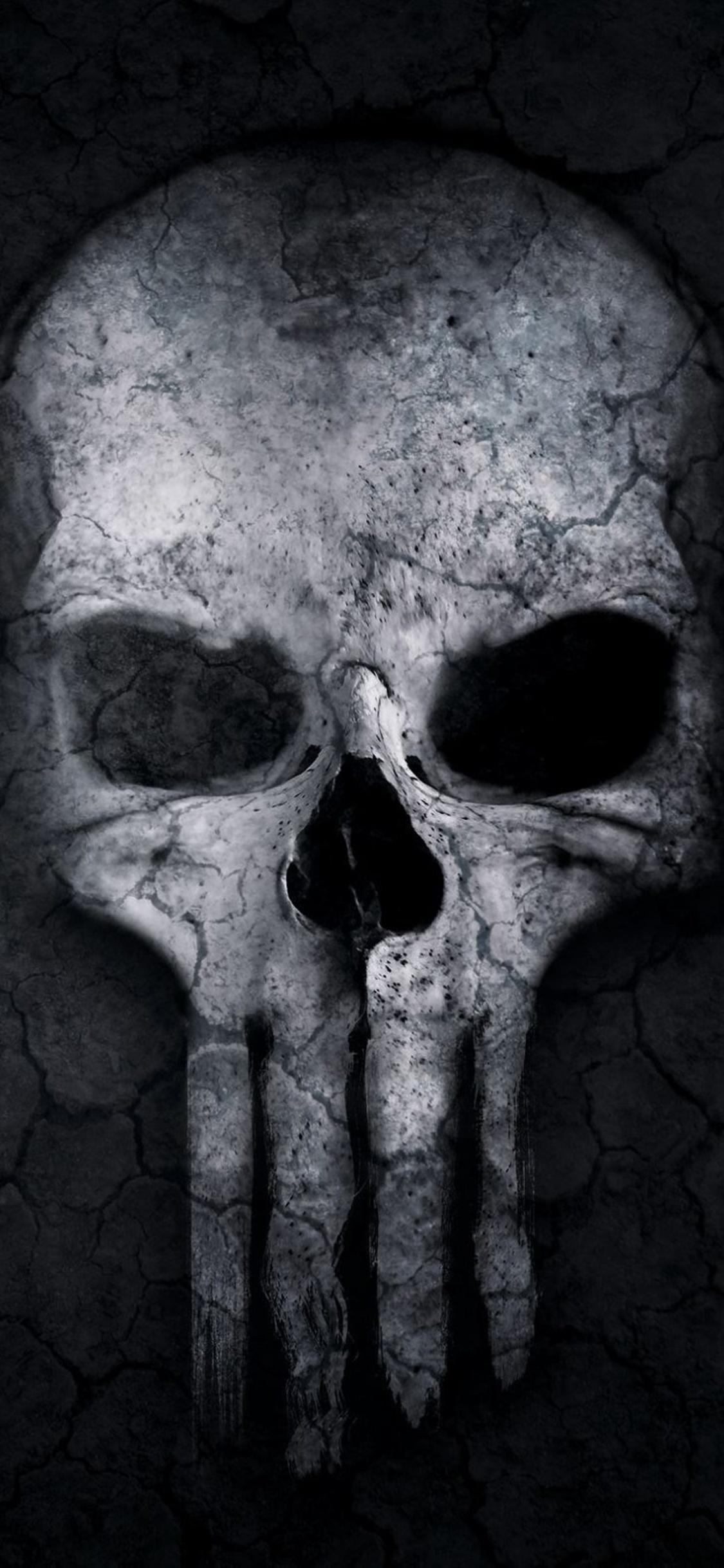 1125x2436 Punisher Skull Artwork Iphone XS,Iphone 10 ...