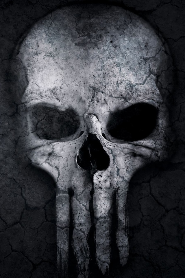 640x960 Punisher Skull Artwork Iphone 4 Iphone 4s Hd 4k Wallpapers