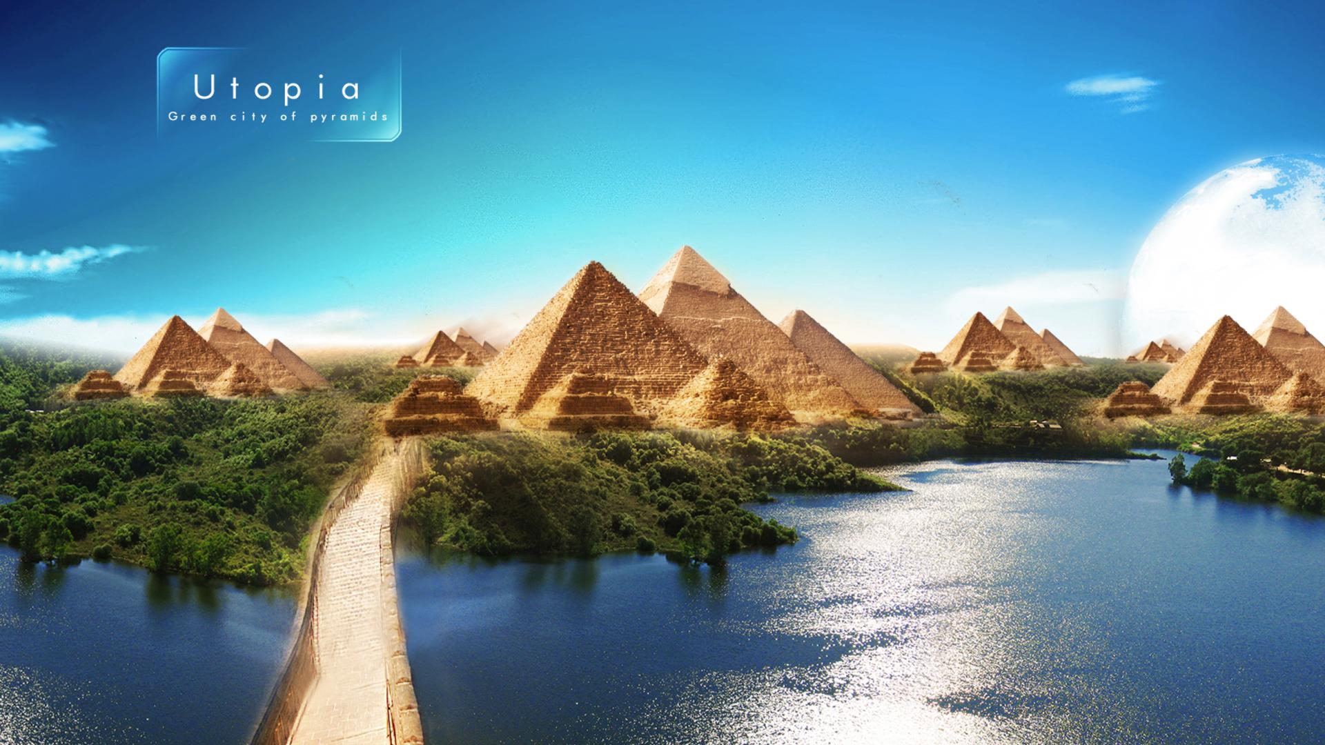 1920x1080 Pyramids Of Utpoia Beautiful Scenery Laptop Full Hd 1080p