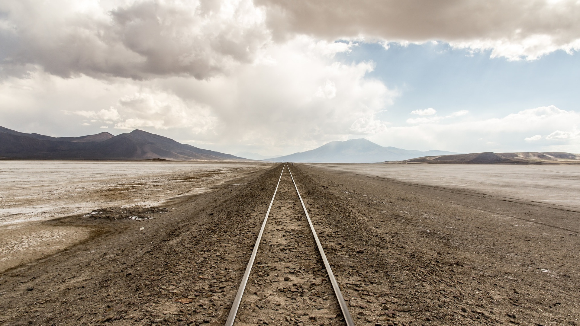 1920x1080 railway line desert nature landscape laptop full hd 1080p