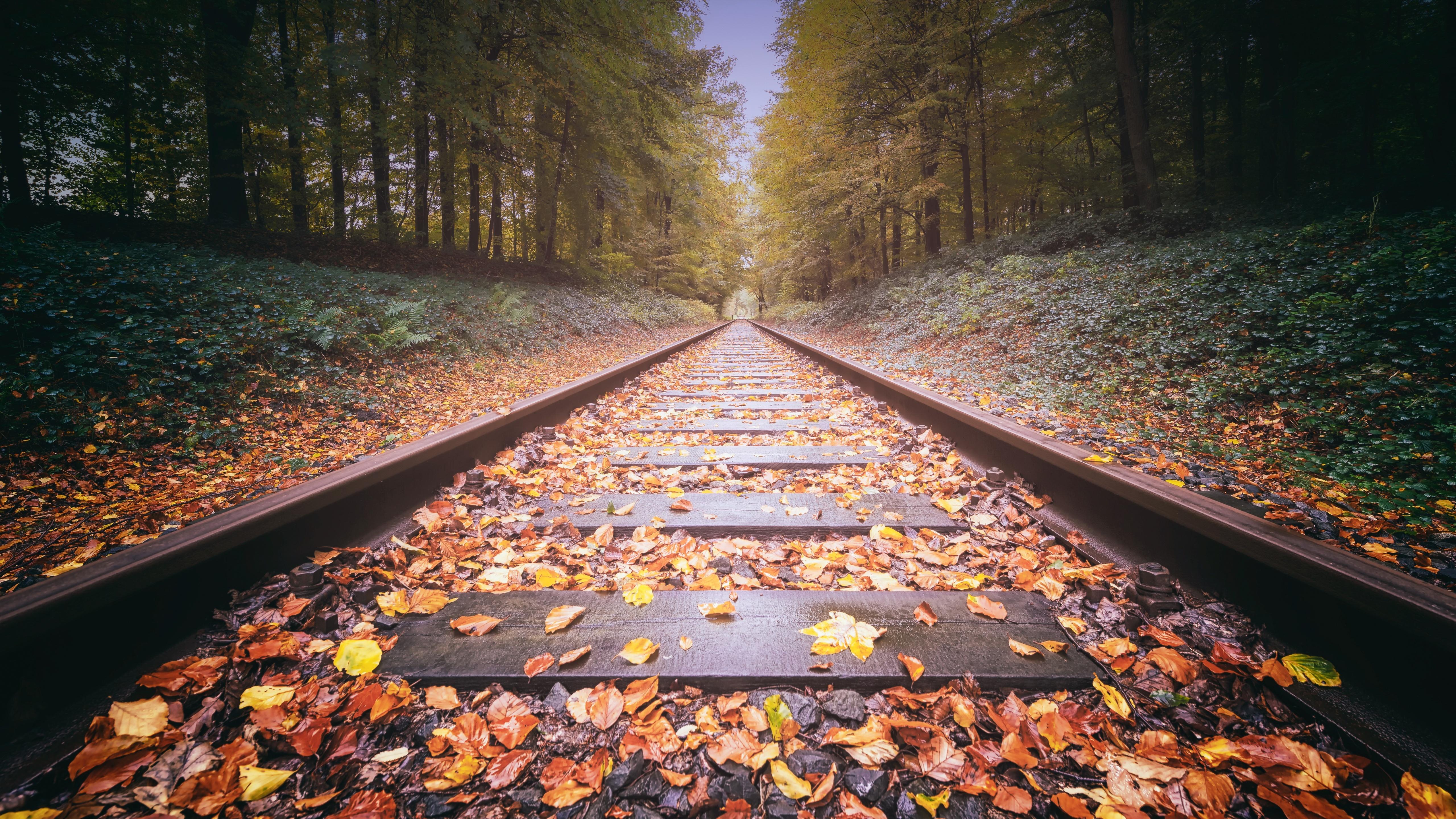 Railway Track 5k HD 4k Wallpapers