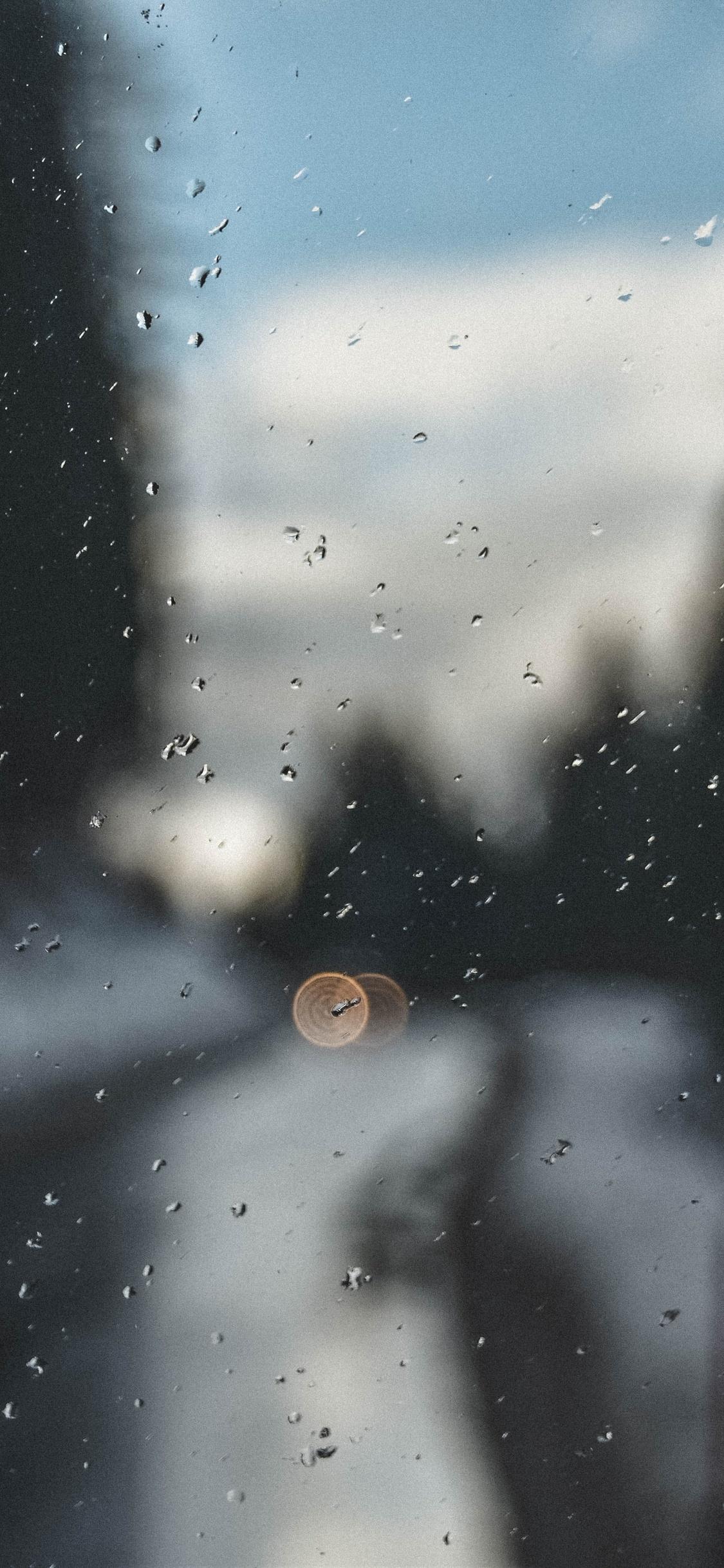 1125x2436 Raindrops On Glass Window Iphone Xs Iphone 10