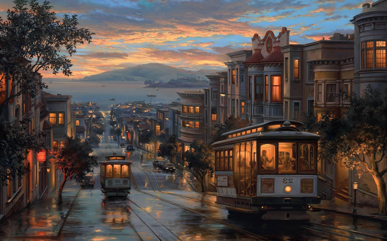 Amazing Wallpaper Macbook Rain - rainy-night-artistic-painting-2880x1800  You Should Have_40253.jpg
