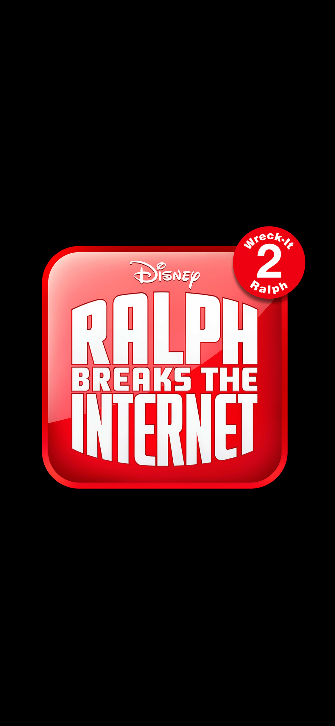 1125x2436 Ralph Breaks The Internet Wreck It Ralph 2 12k Logo