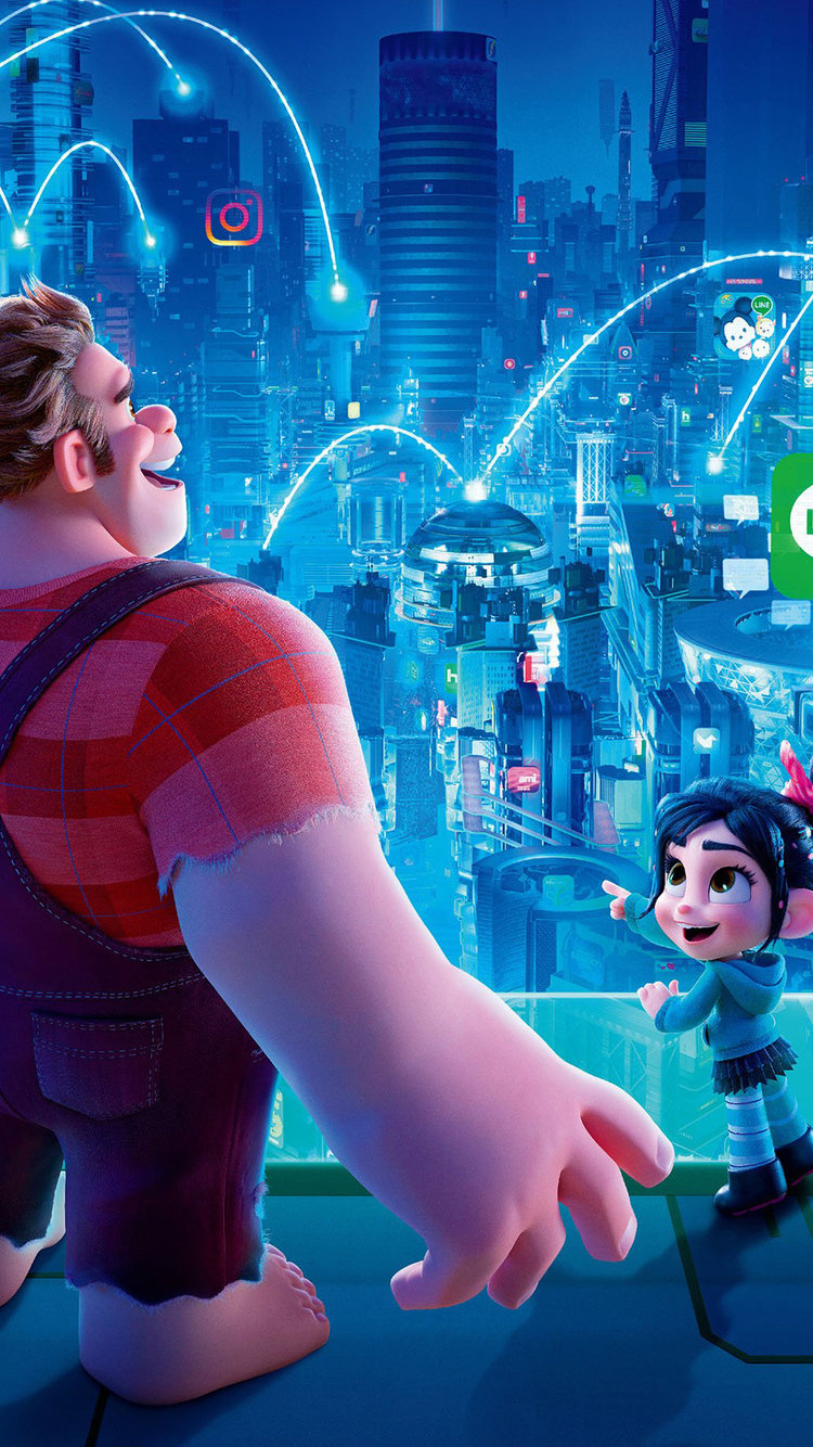 750x1334 Ralph Breaks The Internet Wreck It Ralph 2 Chinese Poster