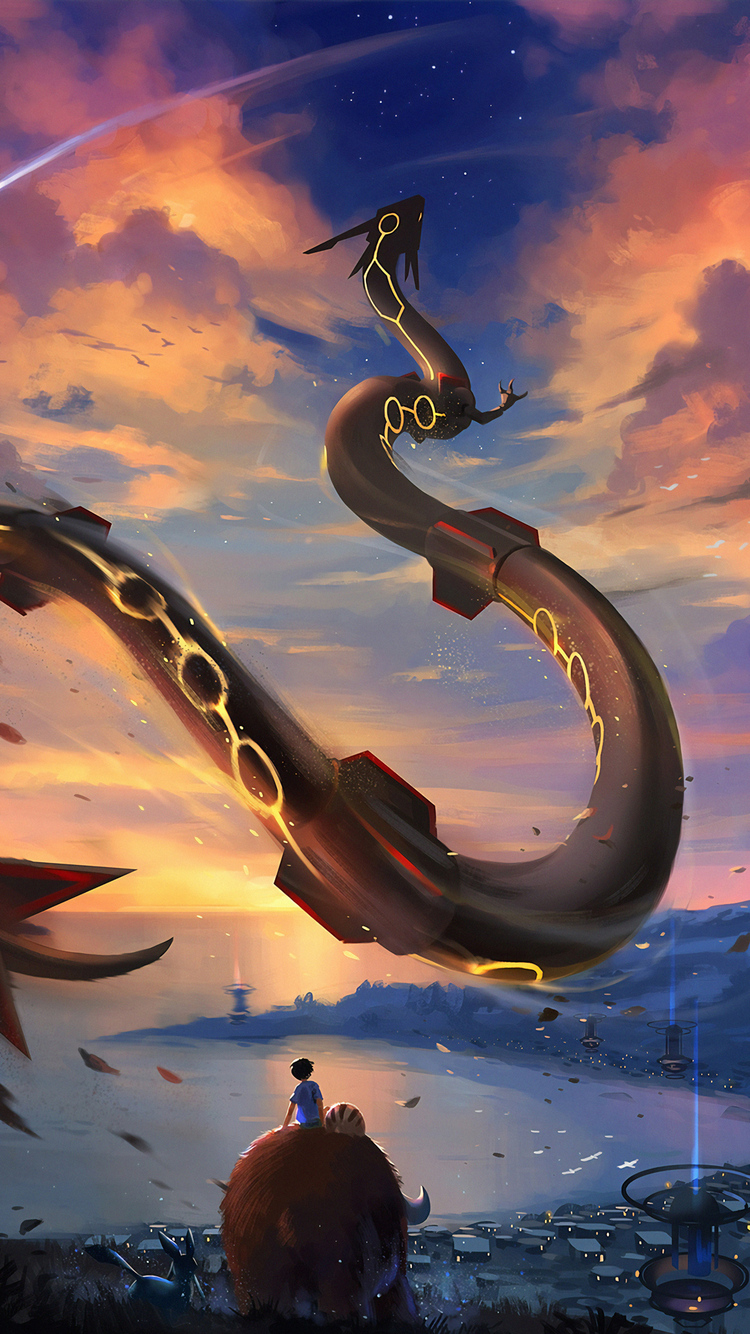 750x1334 Rayquaza Pokemon Go 4k Iphone 6 Iphone 6s Iphone 7 Hd 4k Wallpapers Images Backgrounds Photos And Pictures