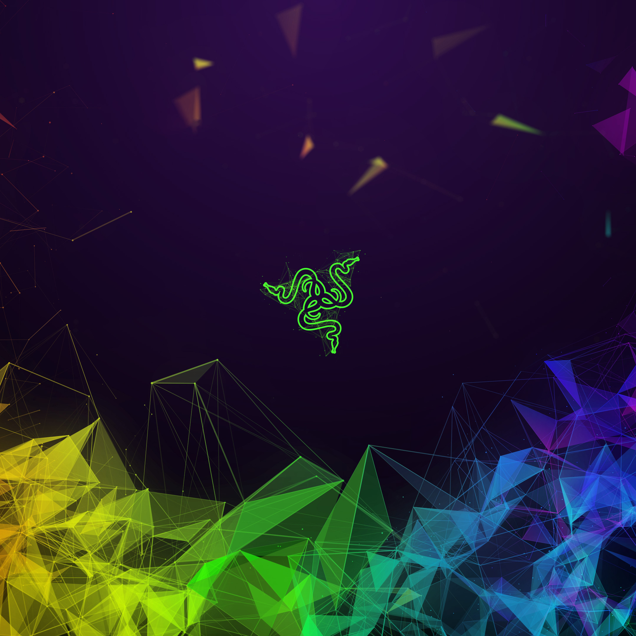 2048x2048 Razer Colorful Abstract 4k Ipad Air HD 4k