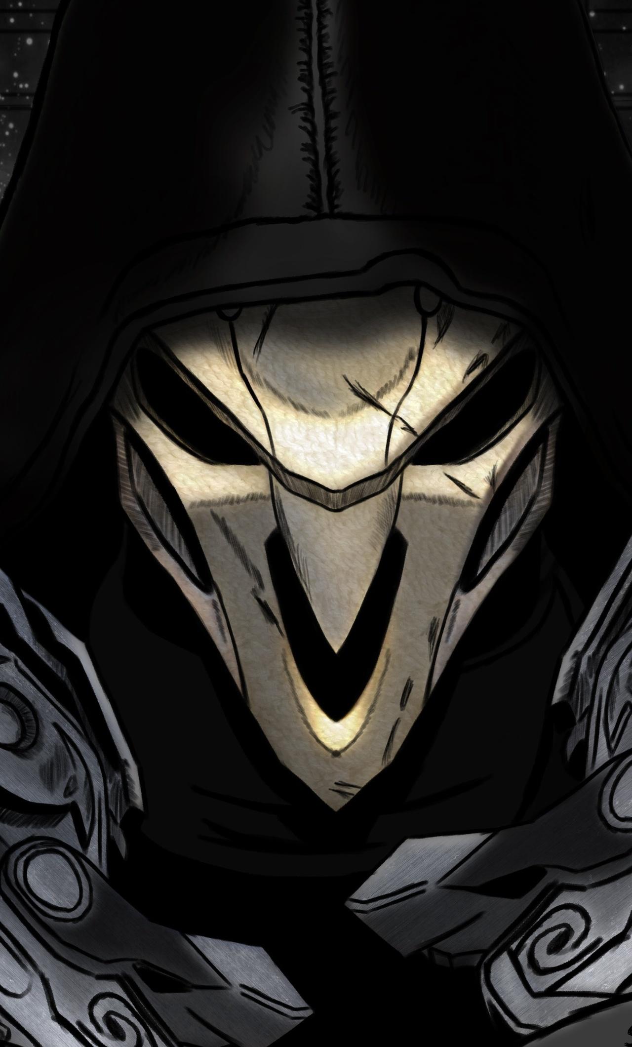 1280x2120 Reaper Overwatch Art 4k Iphone 6 Hd 4k Wallpapers Images