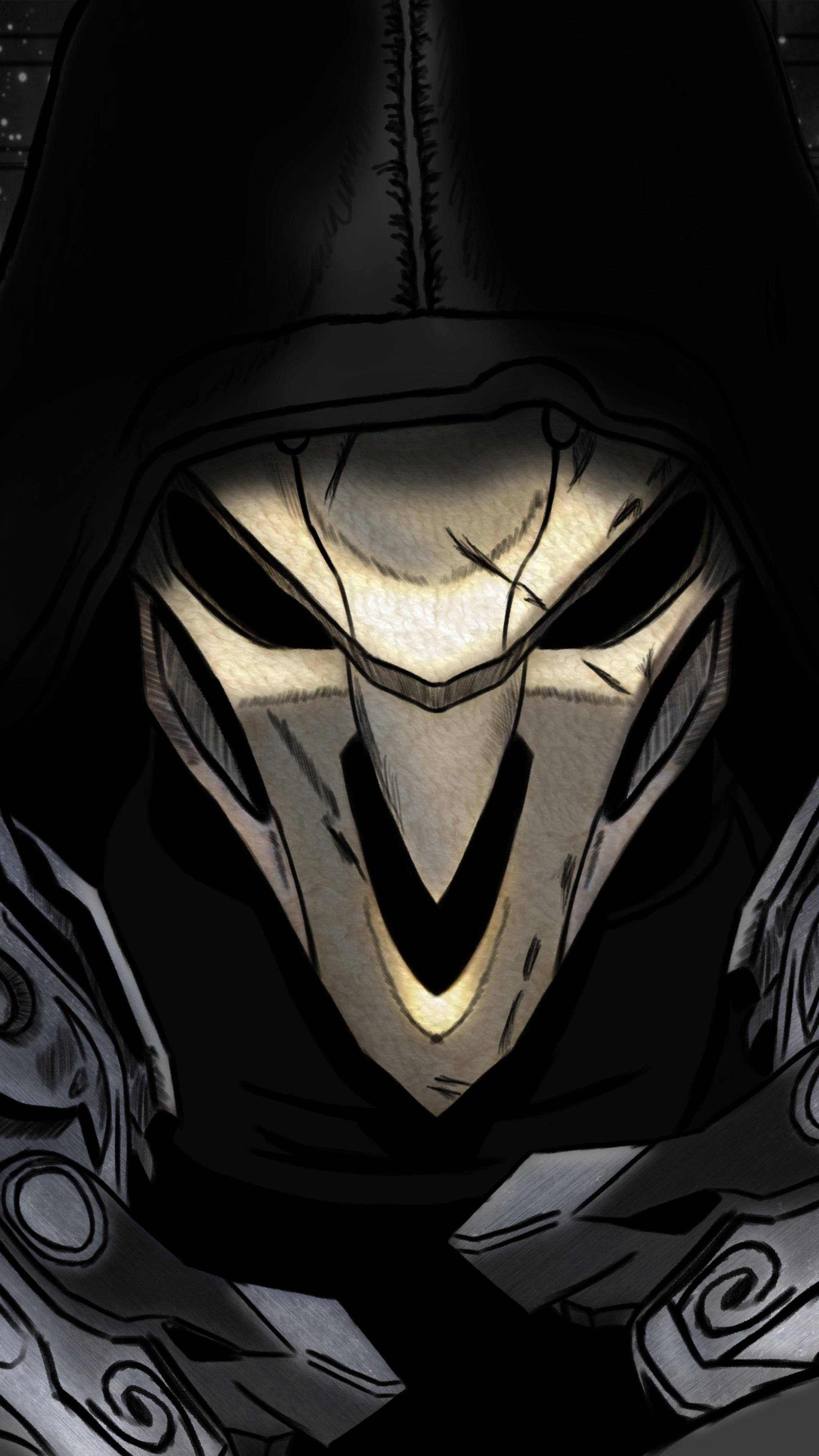 2160x3840 reaper overwatch art 4k sony xperia x xz z5 - Art wallpaper 2160x3840 ...