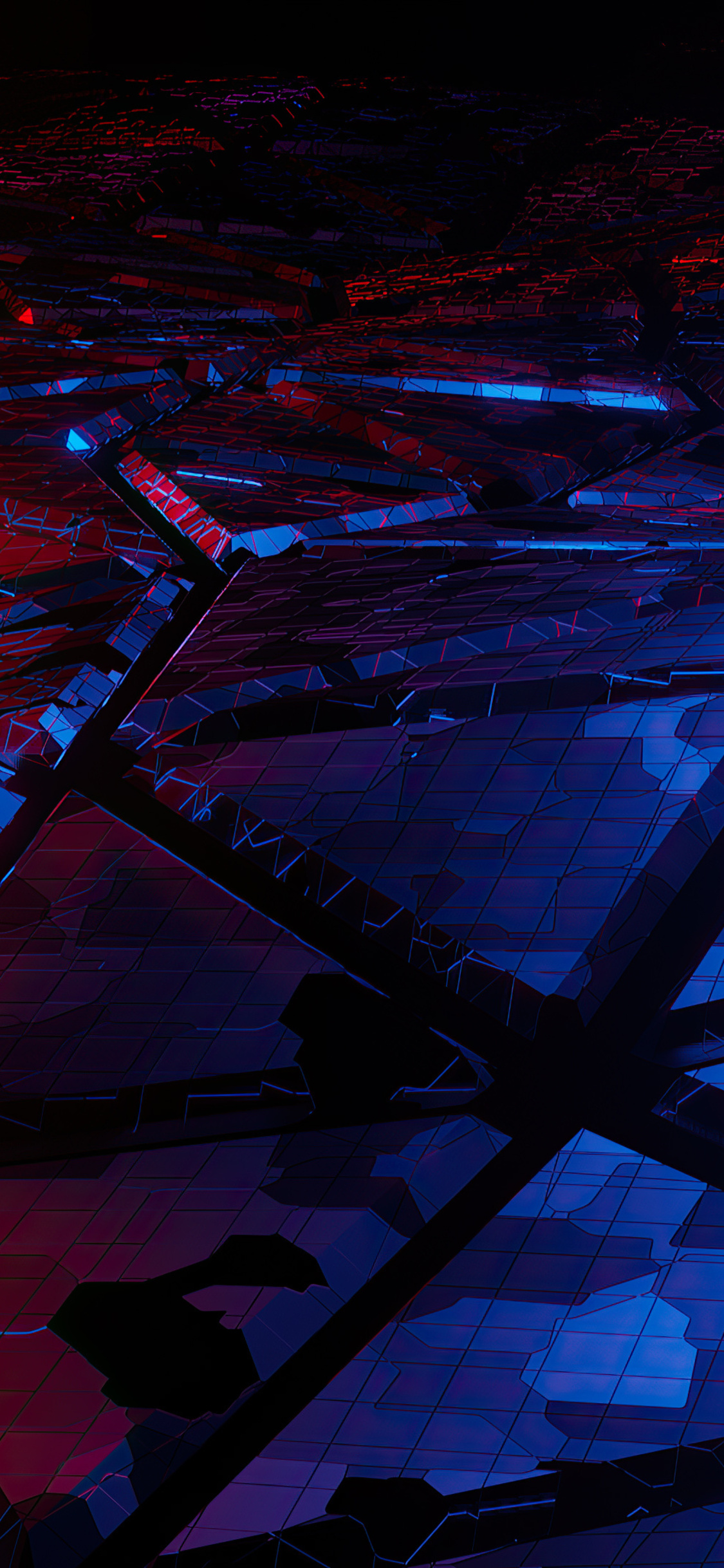 1125x2436 Red And Blue Broken Abstract 4k Iphone XS,Iphone ...