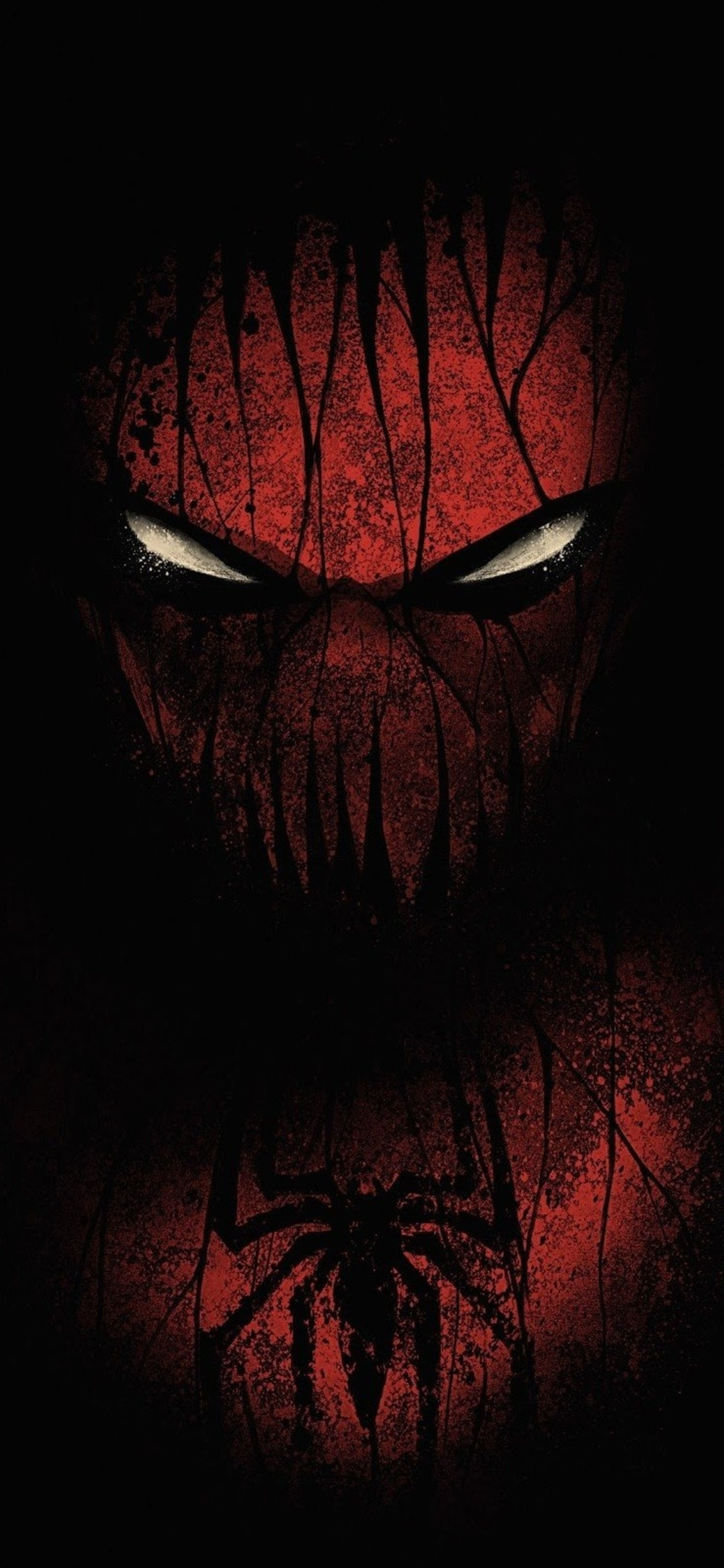 1125x2436 Red Black Spiderman Iphone Xs Iphone 10 Iphone X