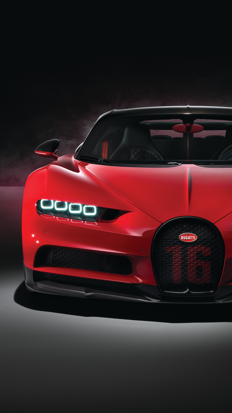 750x1334 Red Bugatti Chiron Sport 2018 4k Iphone 6 Iphone 6s