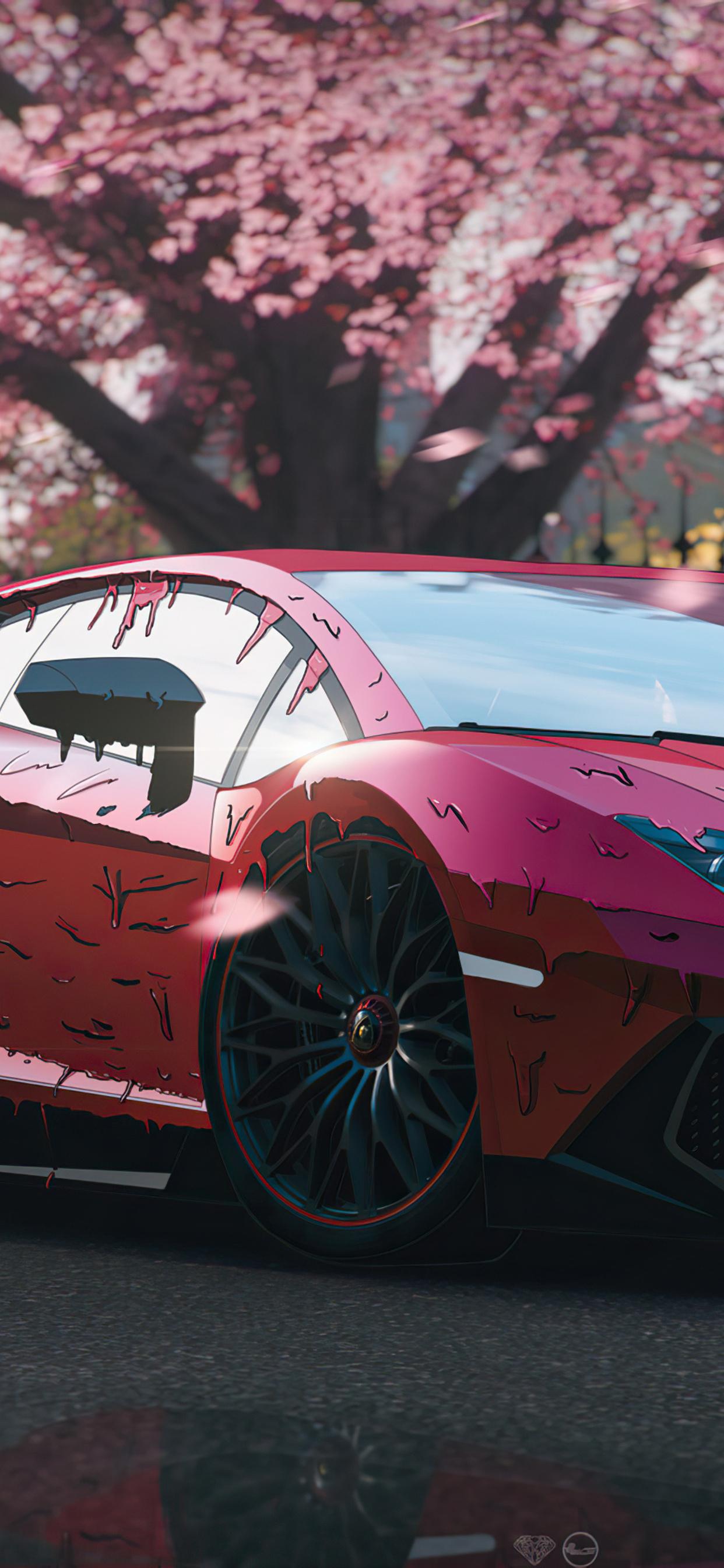1242x2688 Red Candy Paint Lamborghini Aventador 4k Iphone ...
