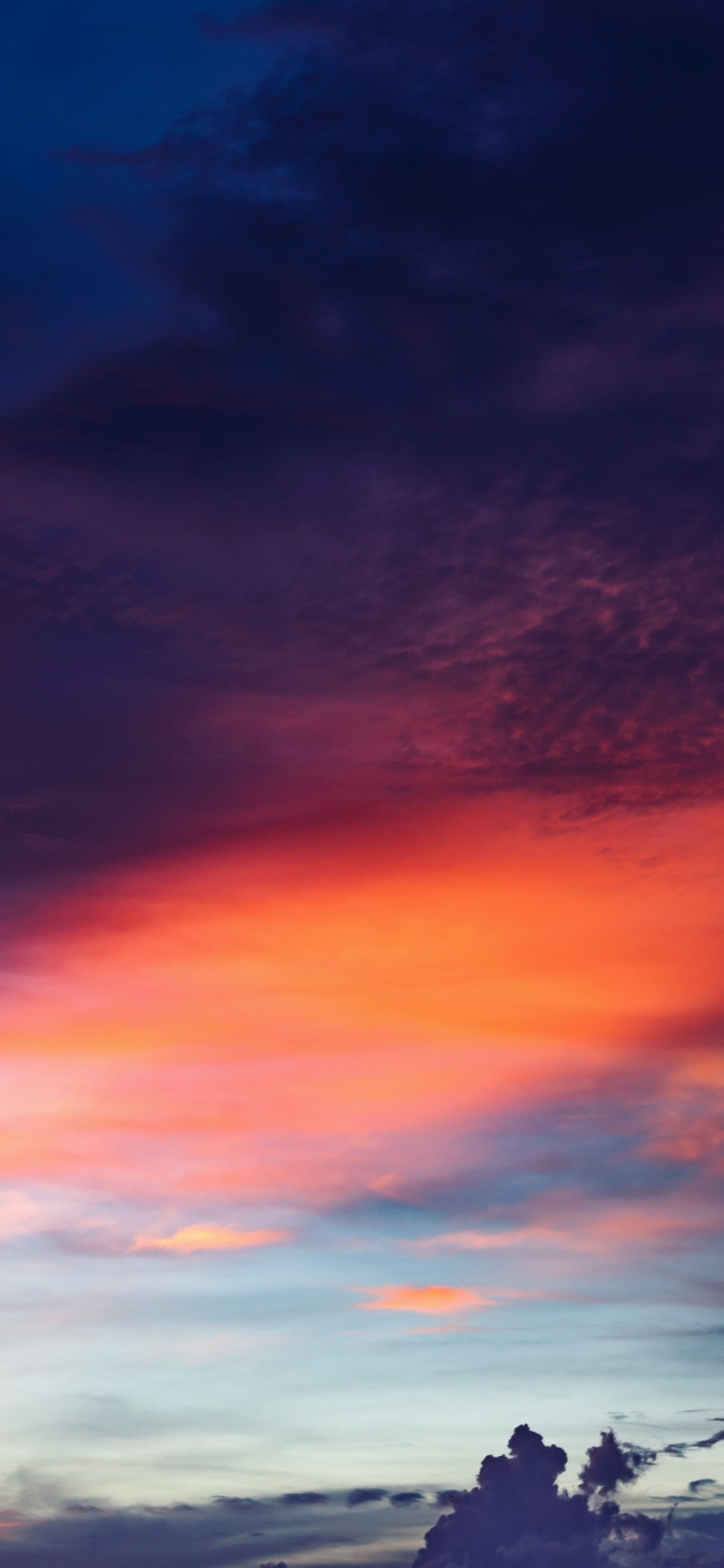 1125x2436 Red Cloudy Sky Sunset 4k Iphone Xs Iphone 10