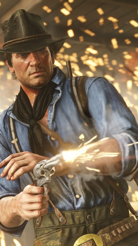 480x854 Red Dead Redemption 2 Arthur Morgan Android One HD