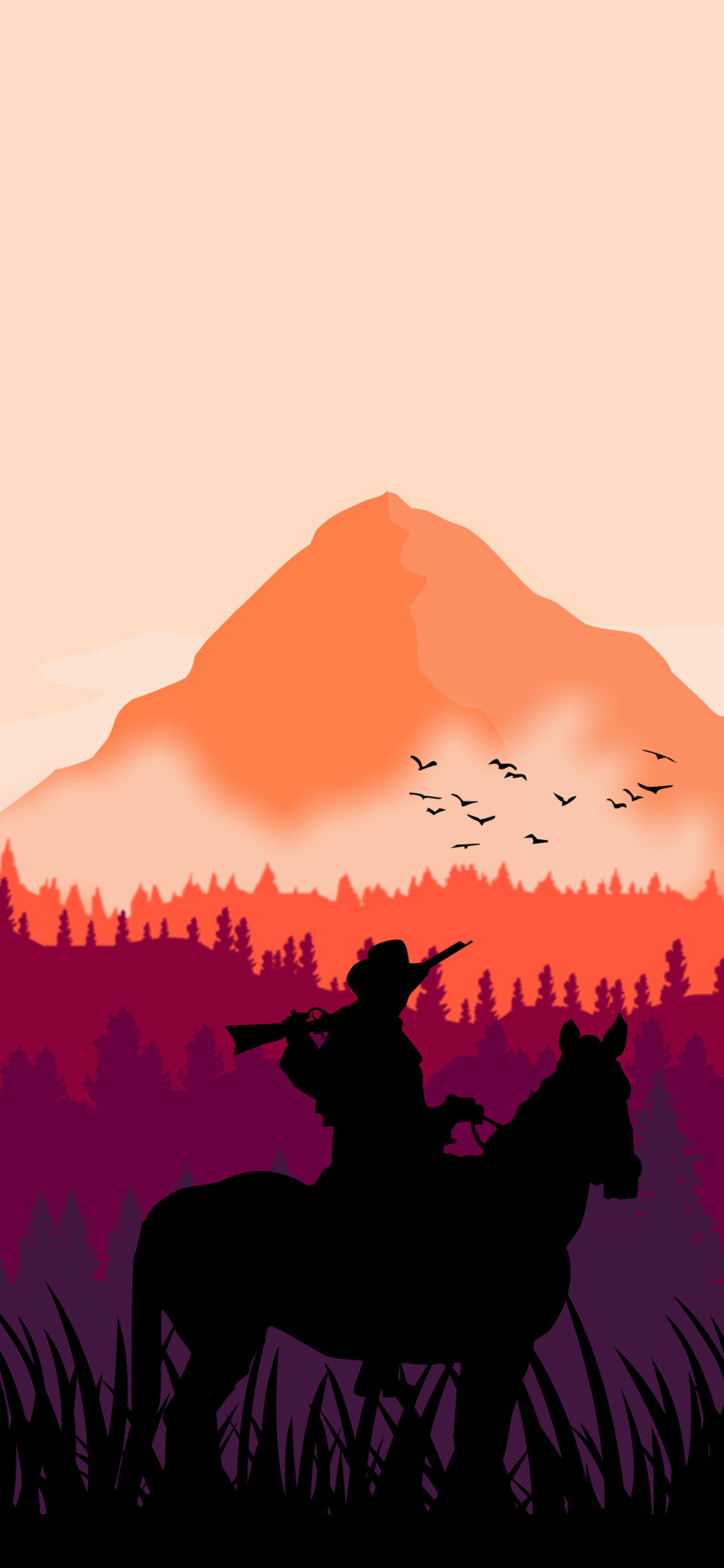 1125x2436 Red Dead Redemption 2 Minimal Art 4k Iphone Xs Iphone 10