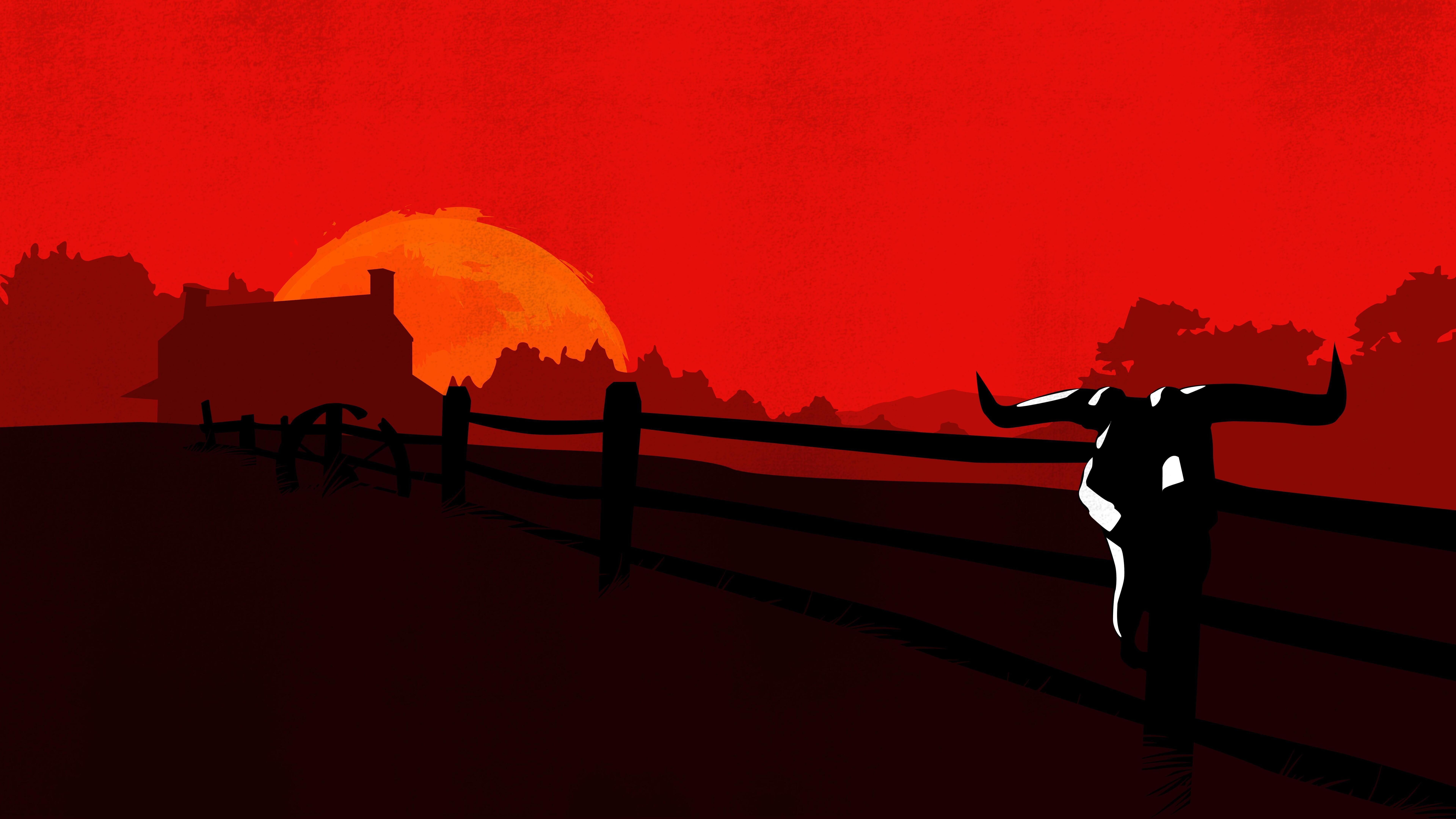7680x4320 Red Dead Redemption 2 Minimalist 8k 8k Hd 4k Wallpapers