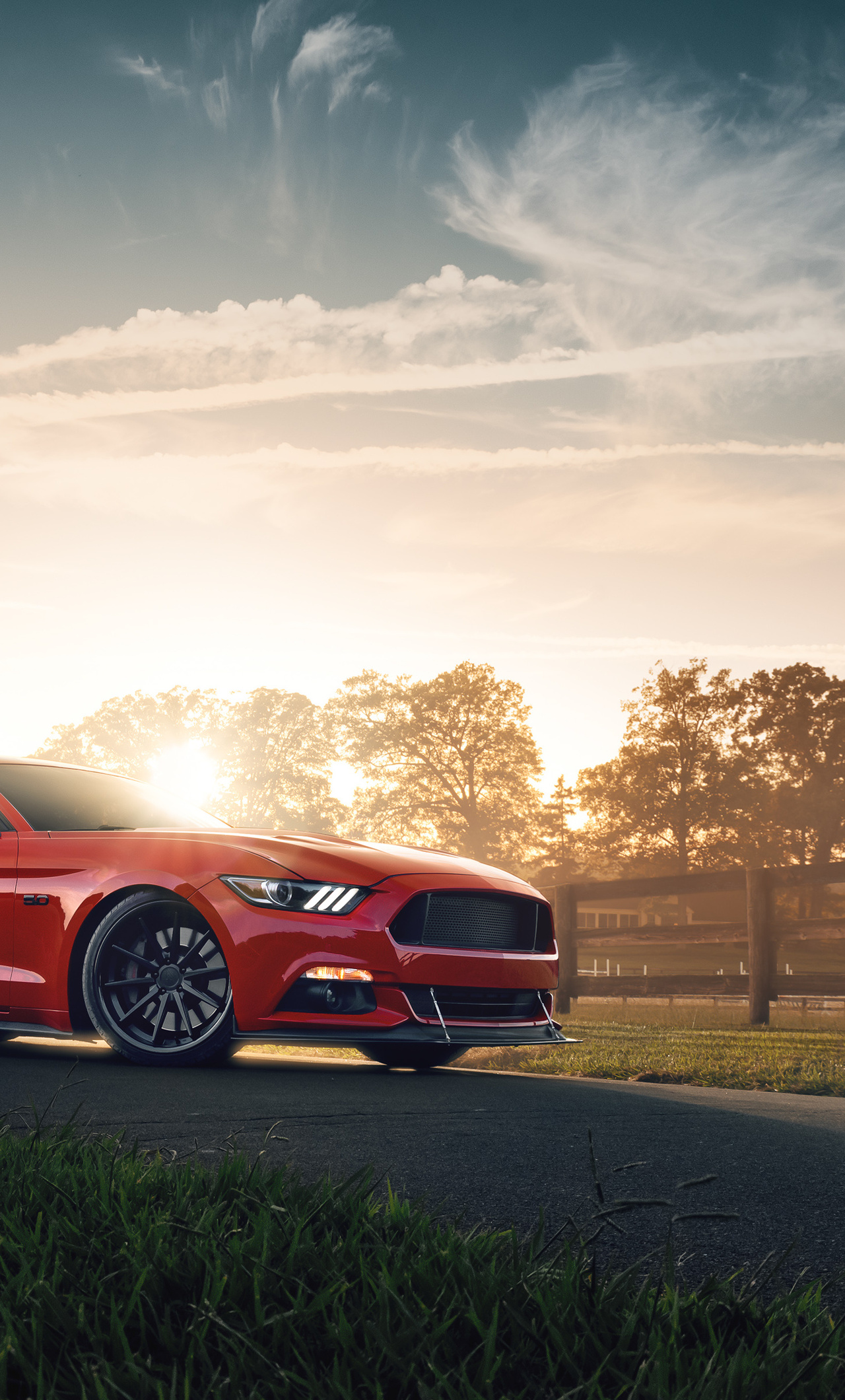 1280x2120 Red Ford Mustang 2021 4k iPhone 6+ HD 4k ...