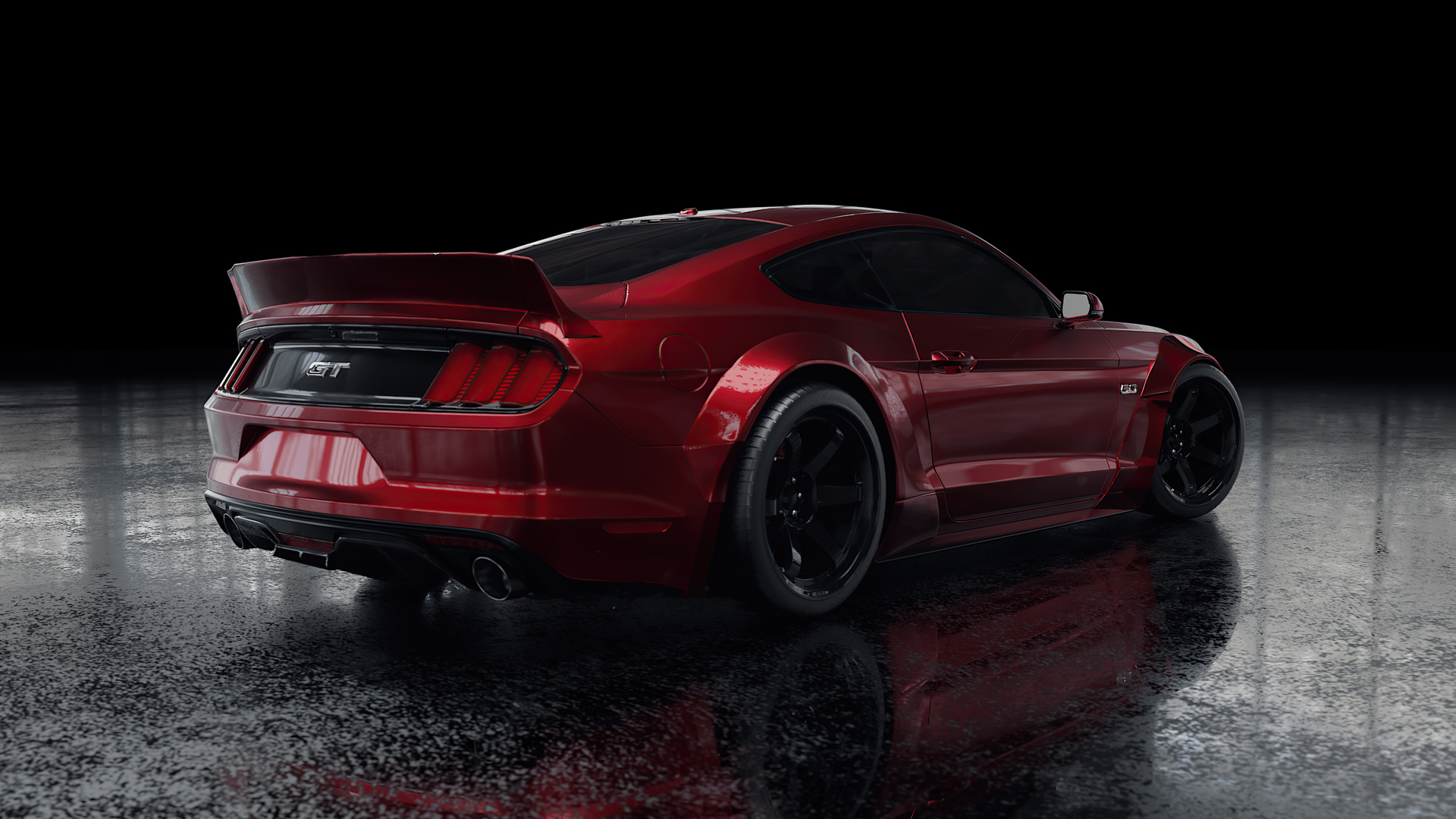 1920x1080 Red Ford Mustang Rear Laptop Full Hd 1080p Hd 4k Wallpapers Images Backgrounds Photos And Pictures