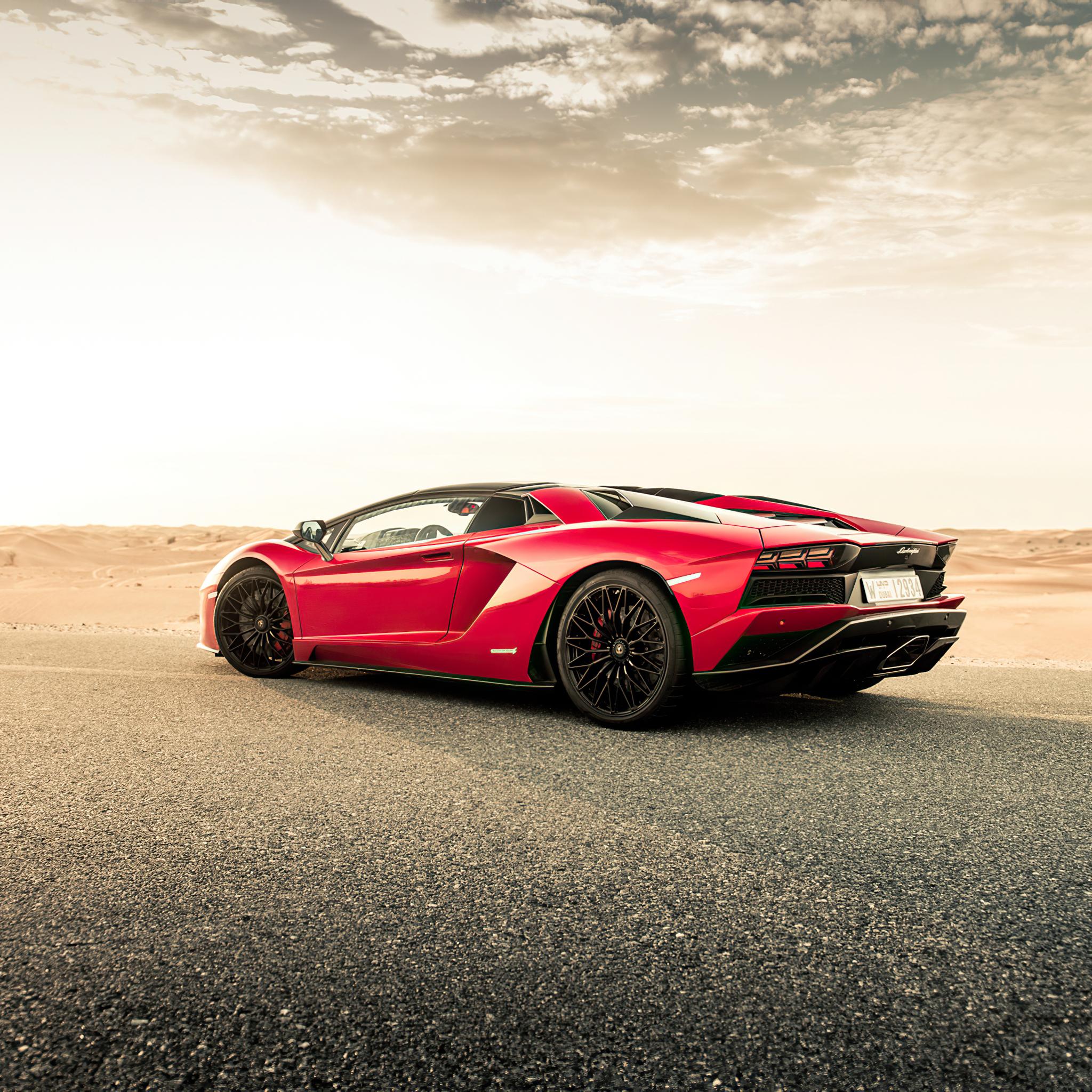 2048x2048 Red Lamborghini Aventador 2020 Ipad Air HD 4k ...