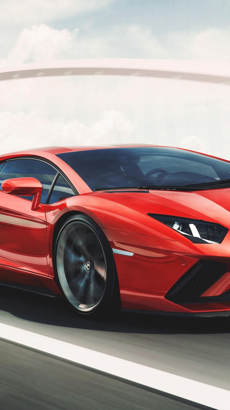 750x1334 Red Lamborghini Aventador Iphone 6 Iphone 6s Iphone 7 Hd