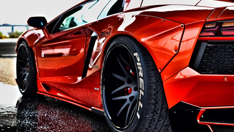 1360x768 Red Lamborghini Aventador Rear Laptop Hd Hd 4k