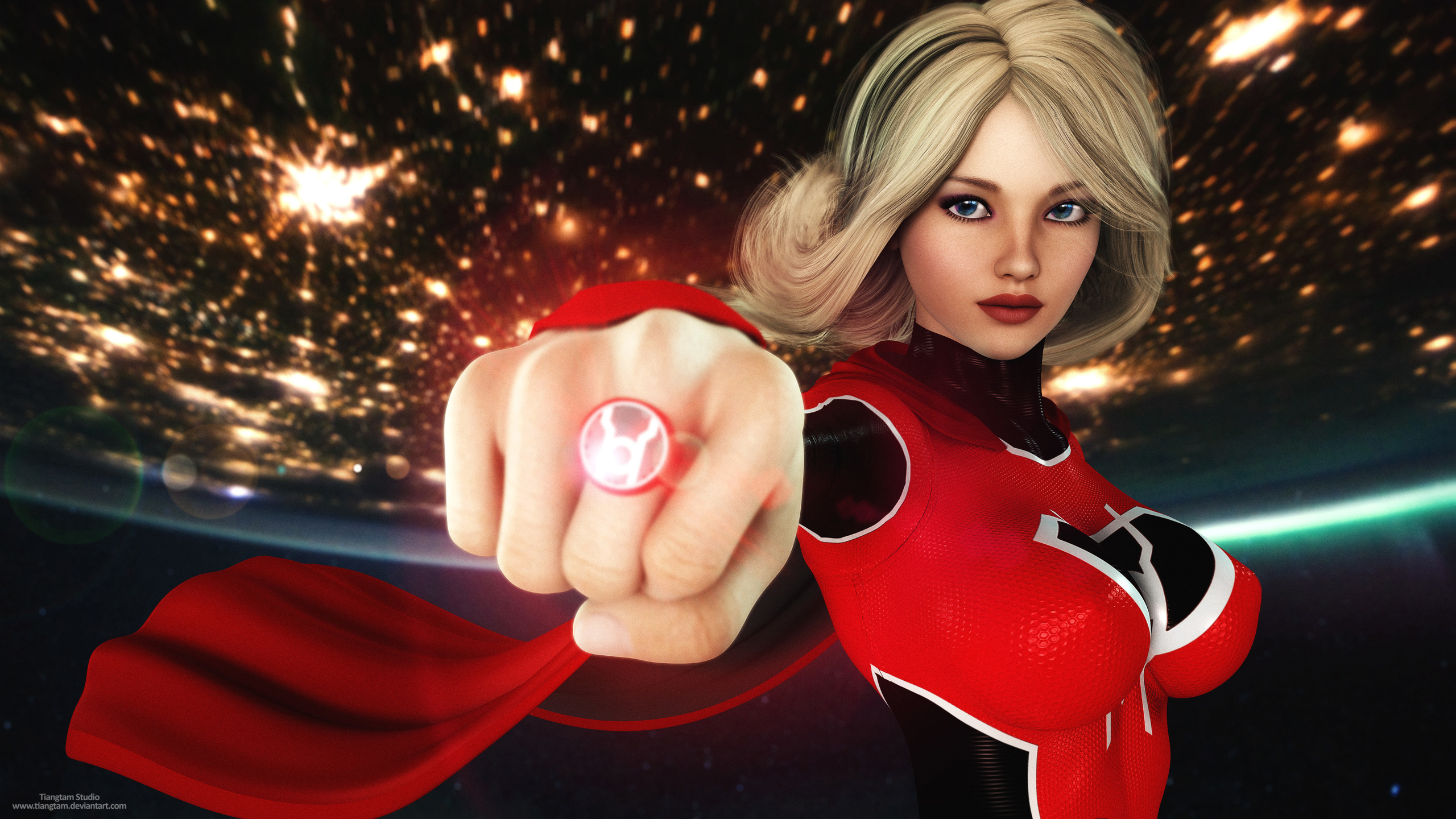 2560x1440 Red Lantern Supergirl 4k 1440p Resolution Hd 4k