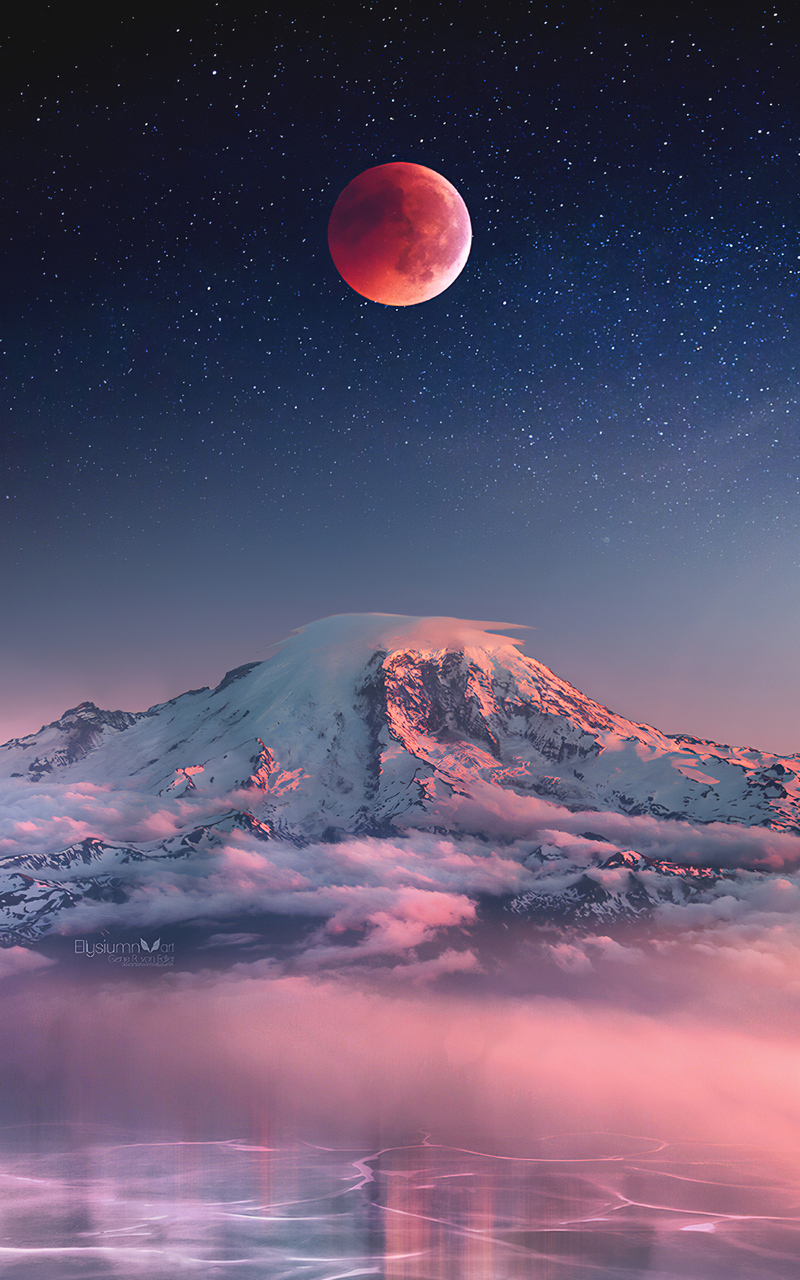 red moon landscape 78