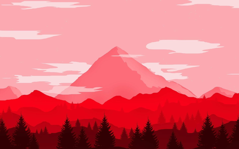 1440x900 Red Mountains Minimalist 4k 1440x900 Resolution ...