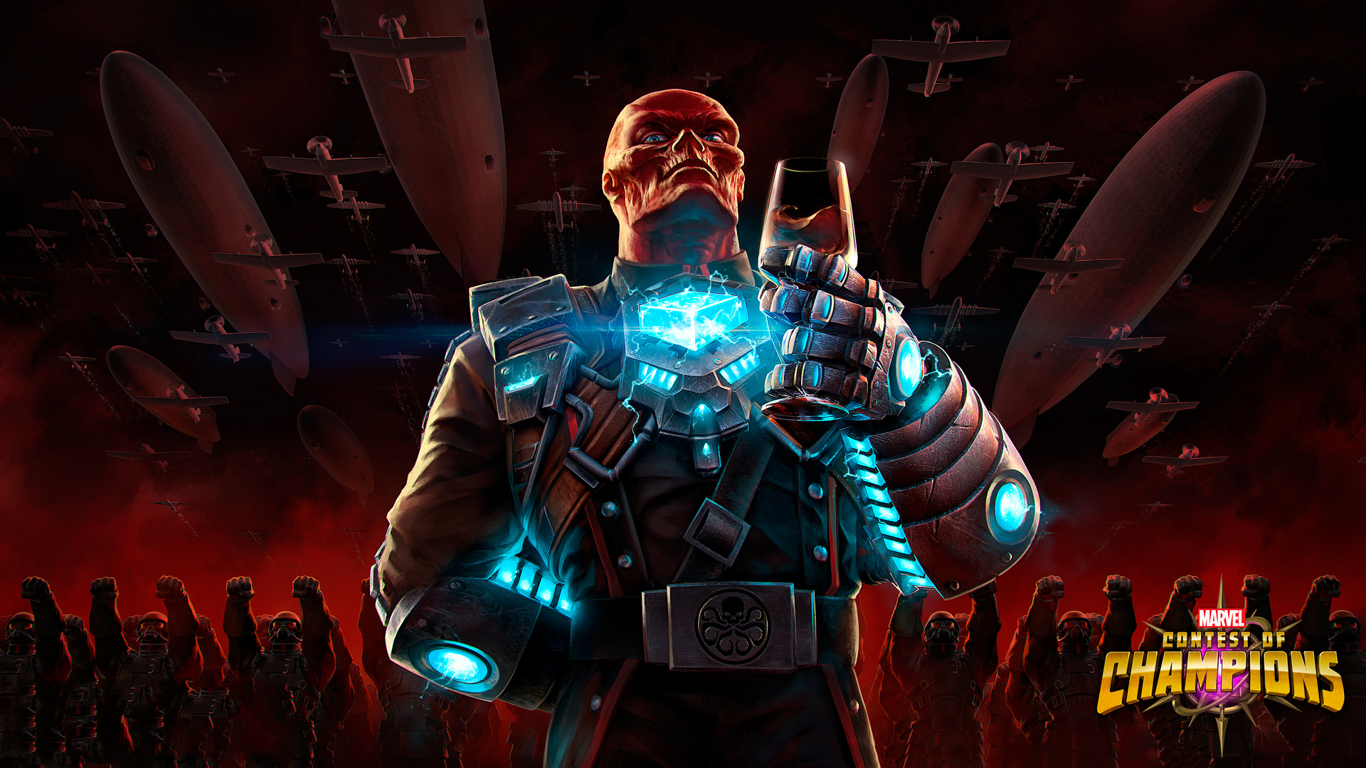 Red Skull Contest Of Champions 4k