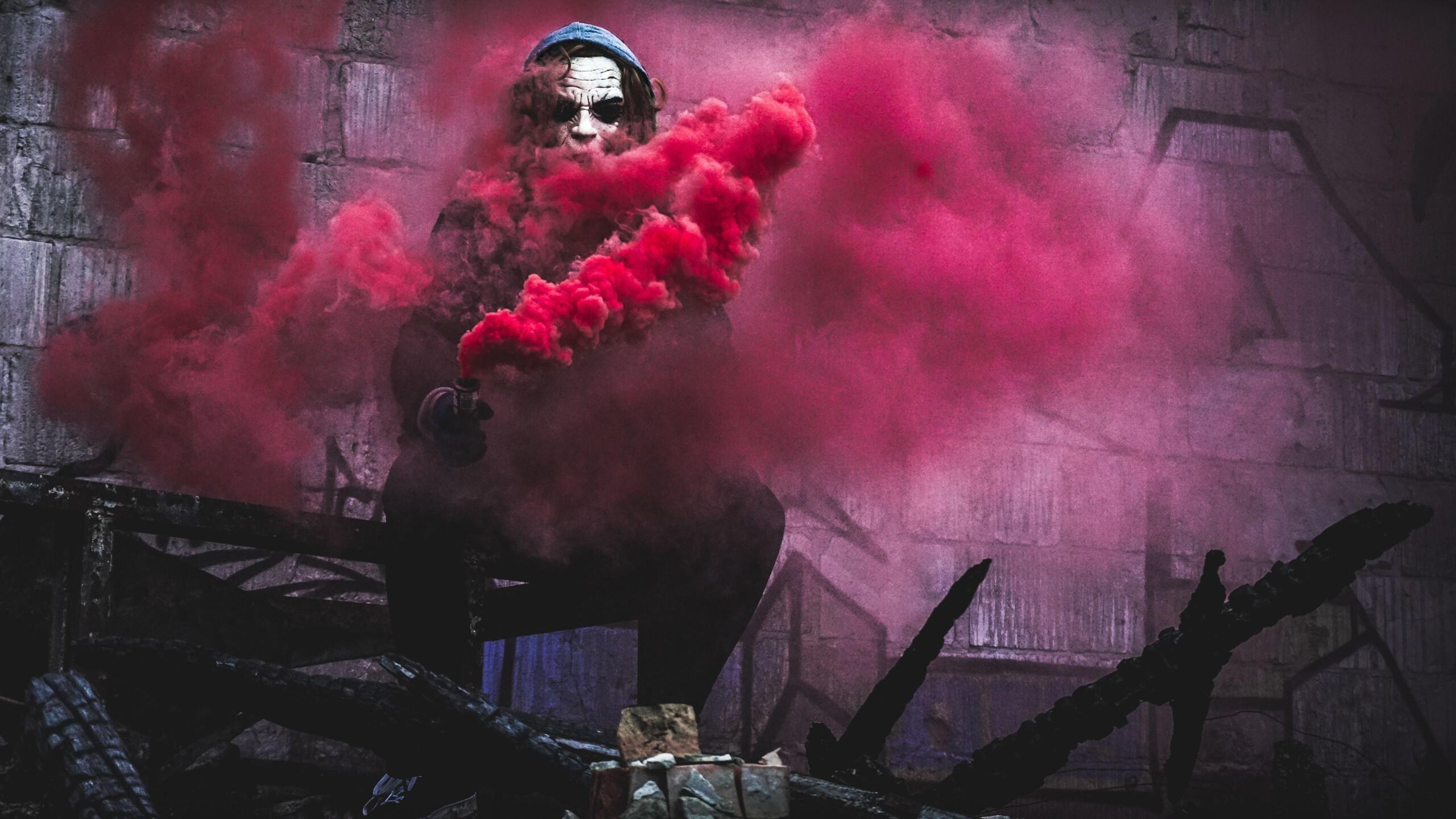 2560x1440 Red Smoke By Joker 1440P Resolution HD 4k ...