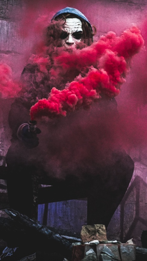 480x854 Red Smoke By Joker Android One HD 4k Wallpapers ...