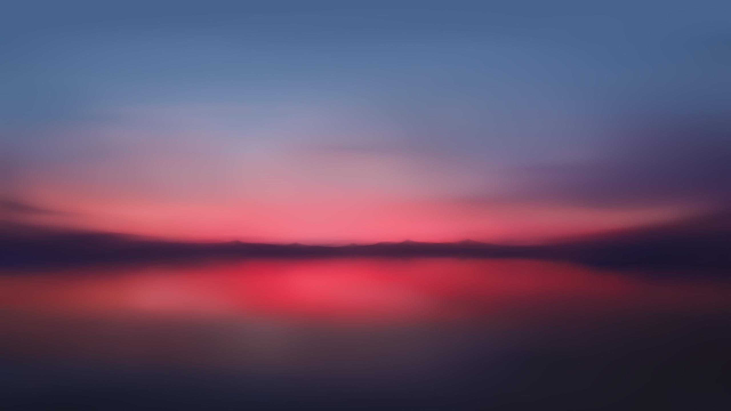 2560x1440 Red Sunset Blur Minimalist 5k 1440P Resolution ...