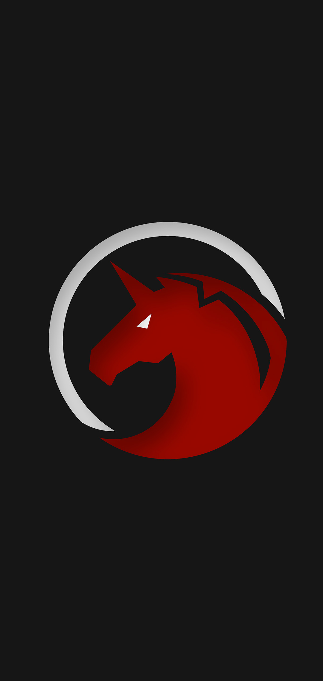1080x2280 Red Unicorn Logo 4k E Plus 6 Huawei P20 Honor
