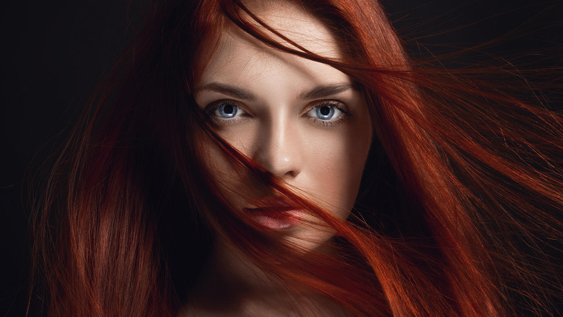 1920X1080 Redhead Girl Hairs On Face 4K 5K Laptop Full Hd