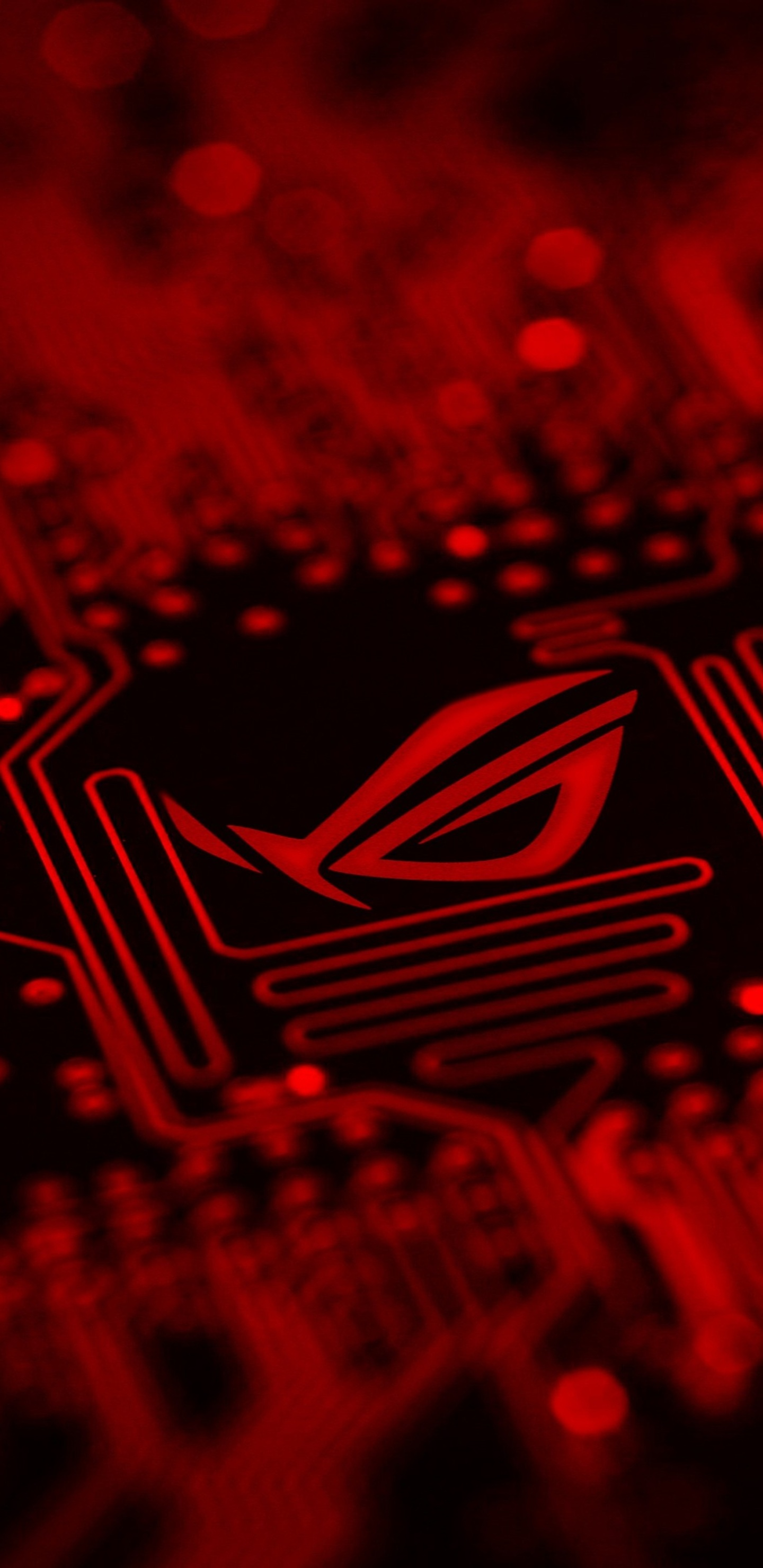 1440x2960 Republic Of Gamers Motherboard Red Background Logo 4k