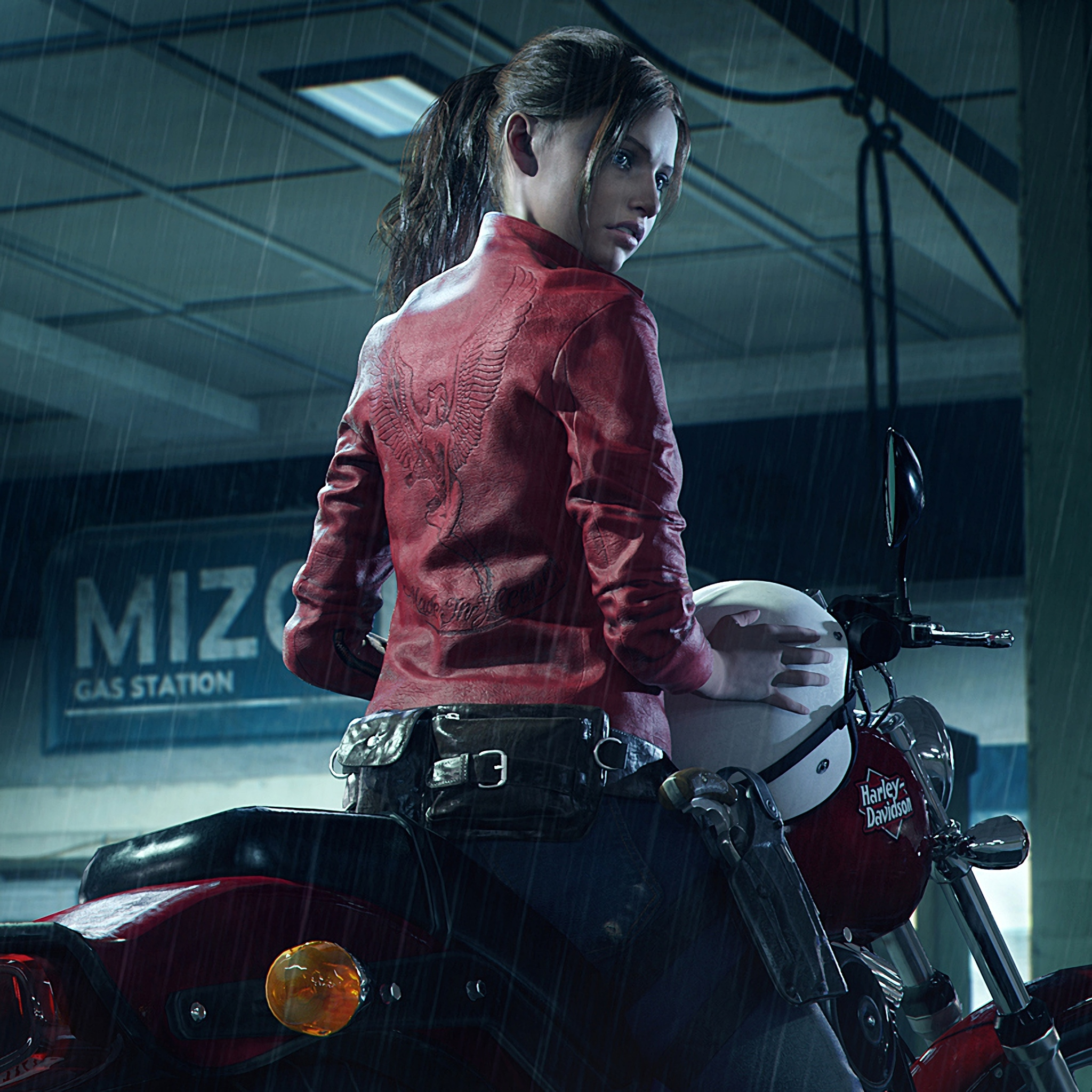 Resident Evil Hd Wallpaper: 2048x2048 Resident Evil 2 2019 Claire Redfield Harley